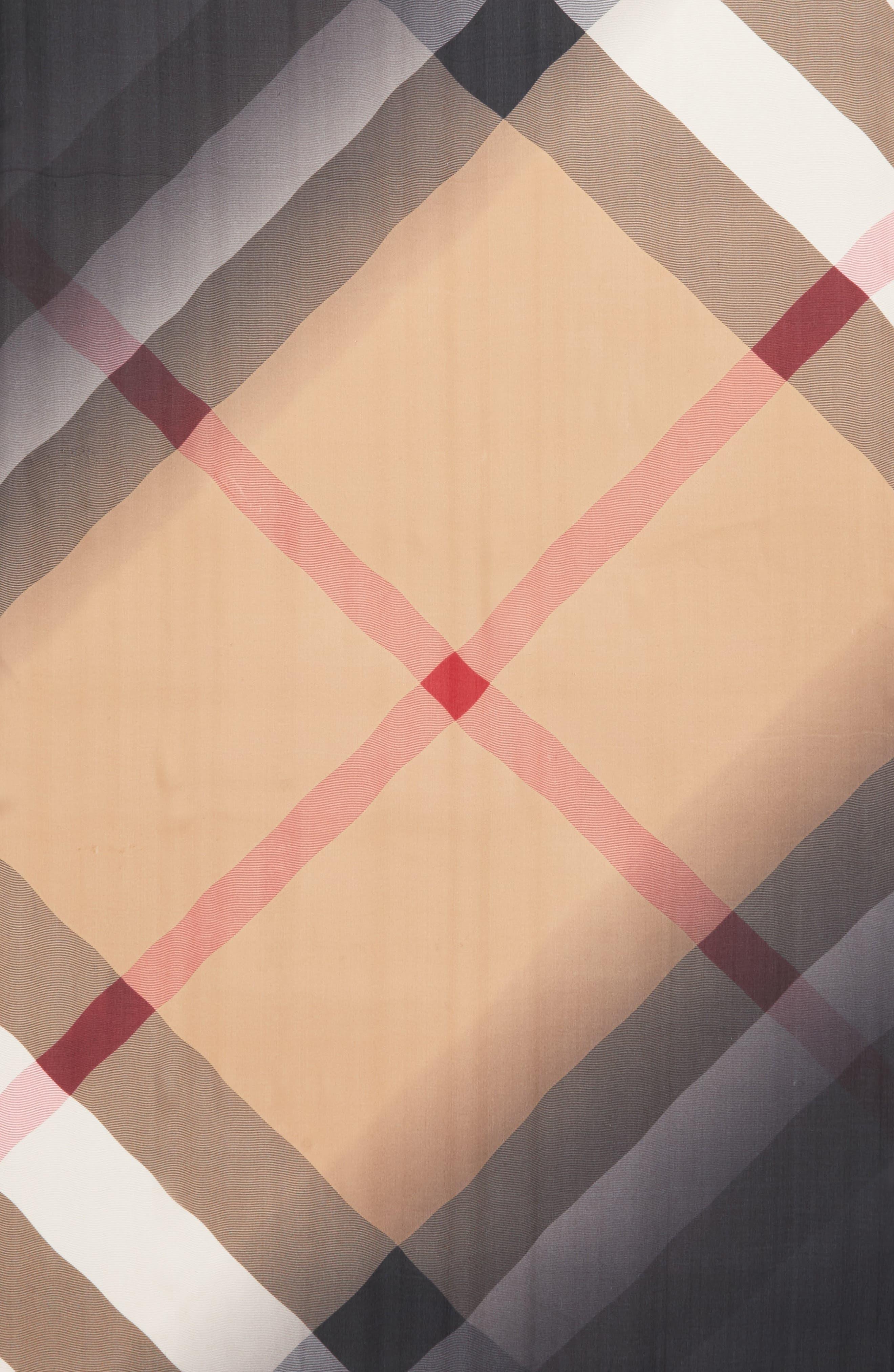 Ombré Check Silk Scarf,                             Alternate thumbnail 4, color,                             231
