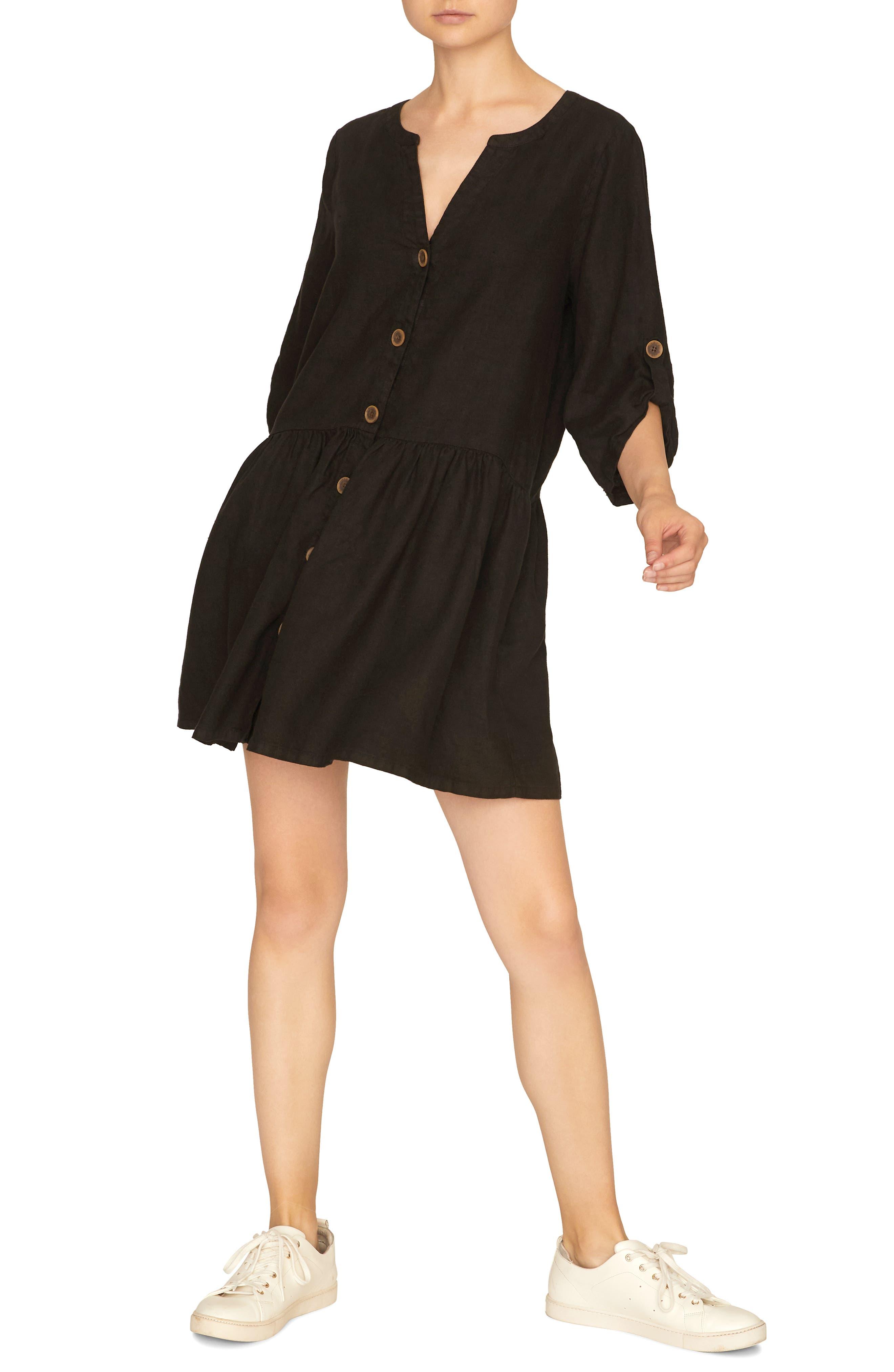 Sanctuary Crossroads Linen Dress, Black