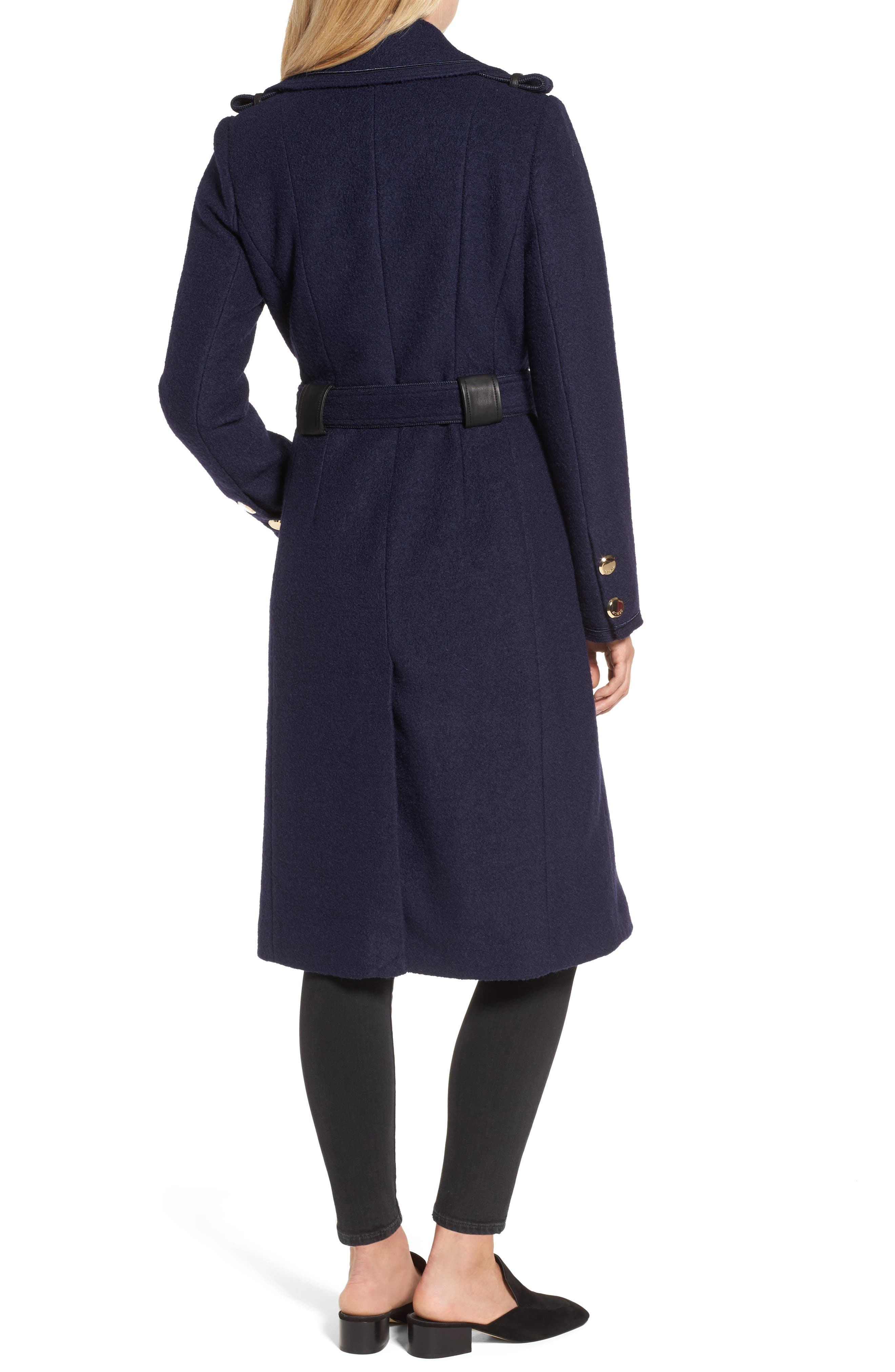 Boiled Wool Trench Coat,                             Alternate thumbnail 2, color,                             410