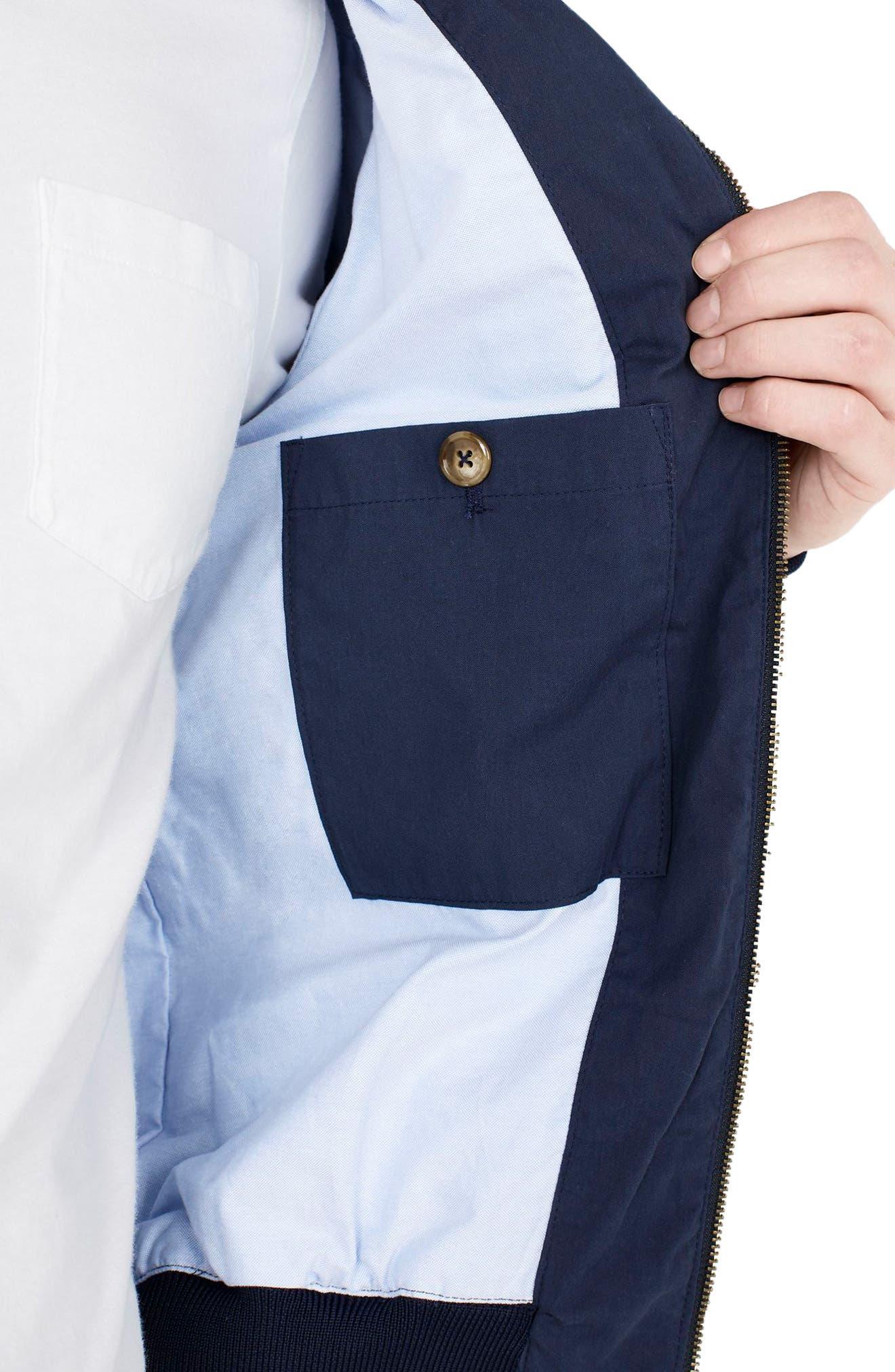 Slim Fit Harrington Jacket,                             Alternate thumbnail 3, color,                             400