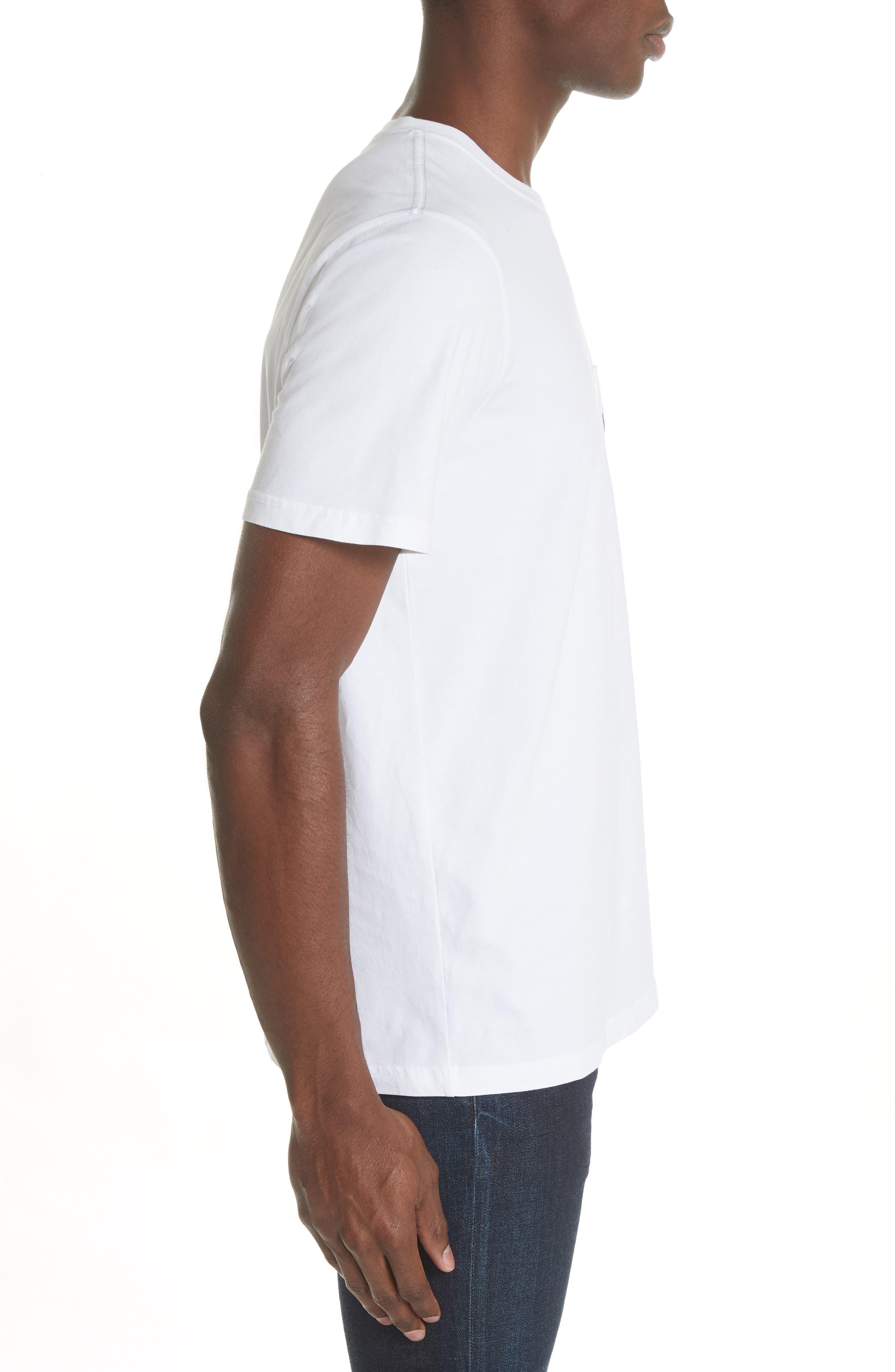 Dino Print Pocket T-Shirt,                             Alternate thumbnail 3, color,                             100