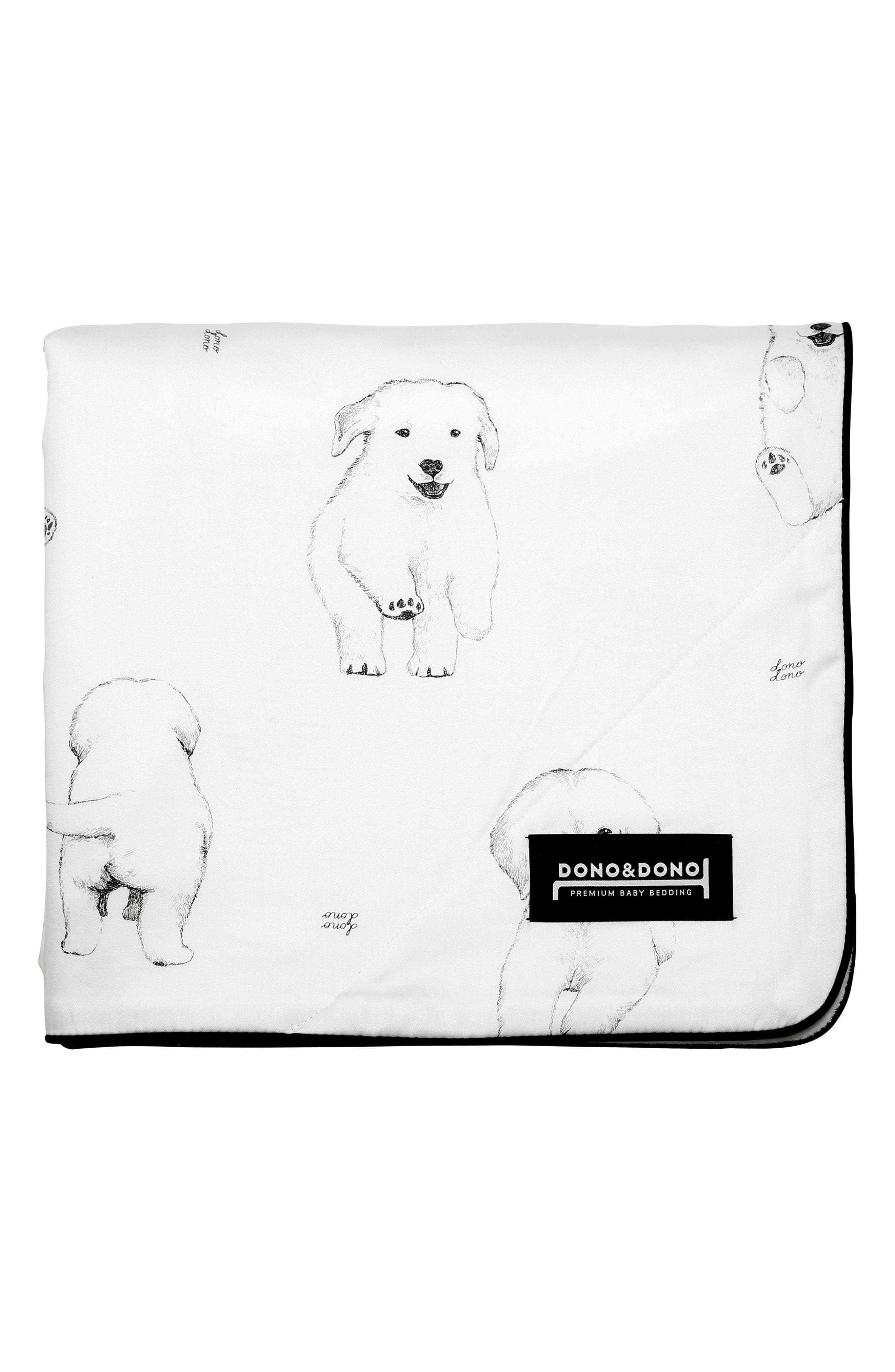 DONO & DONO Classic All Seasons Blanket, Main, color, BOW WOW