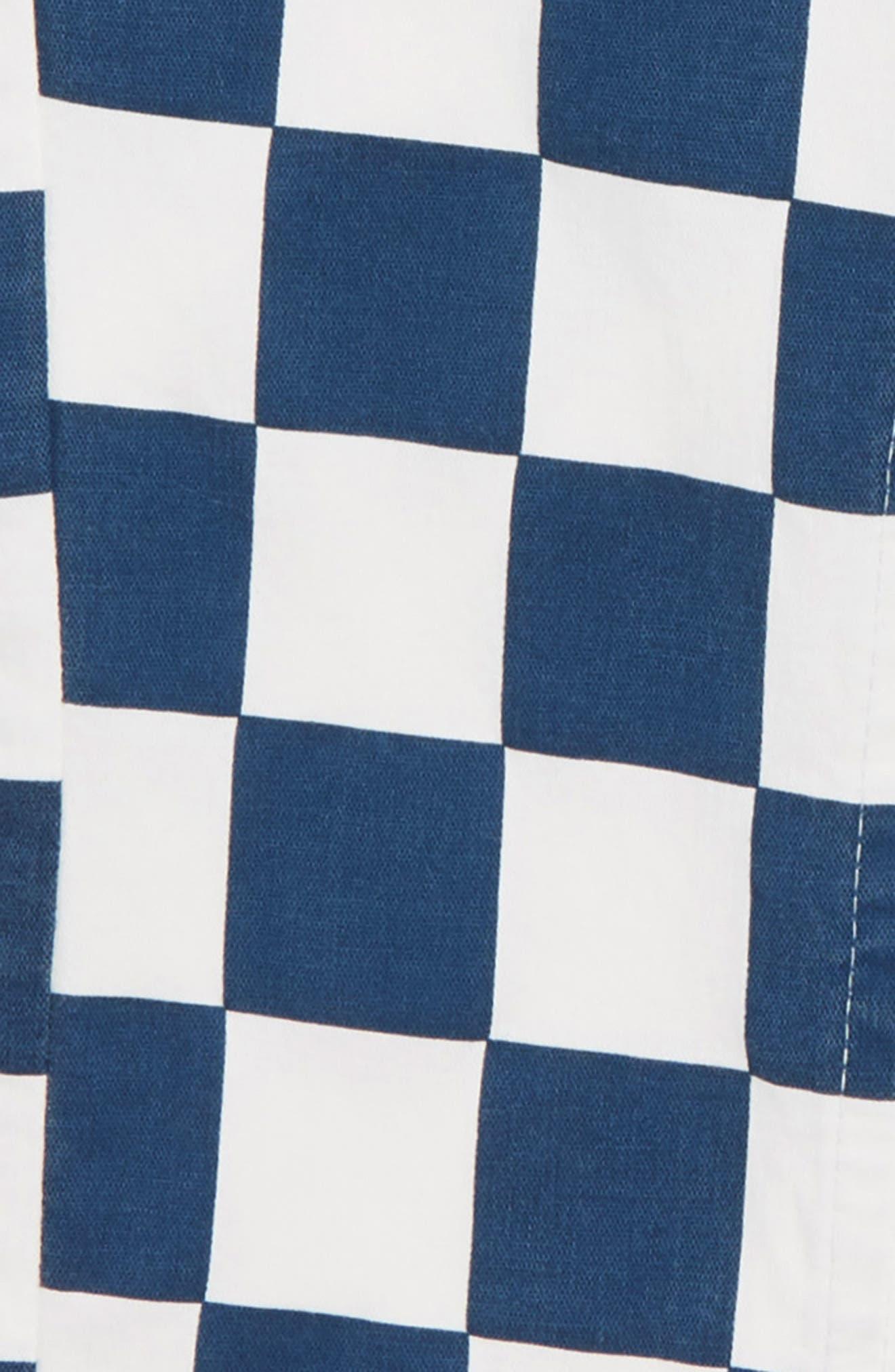 Bo Checkerboard Pants,                             Alternate thumbnail 2, color,                             NAVY