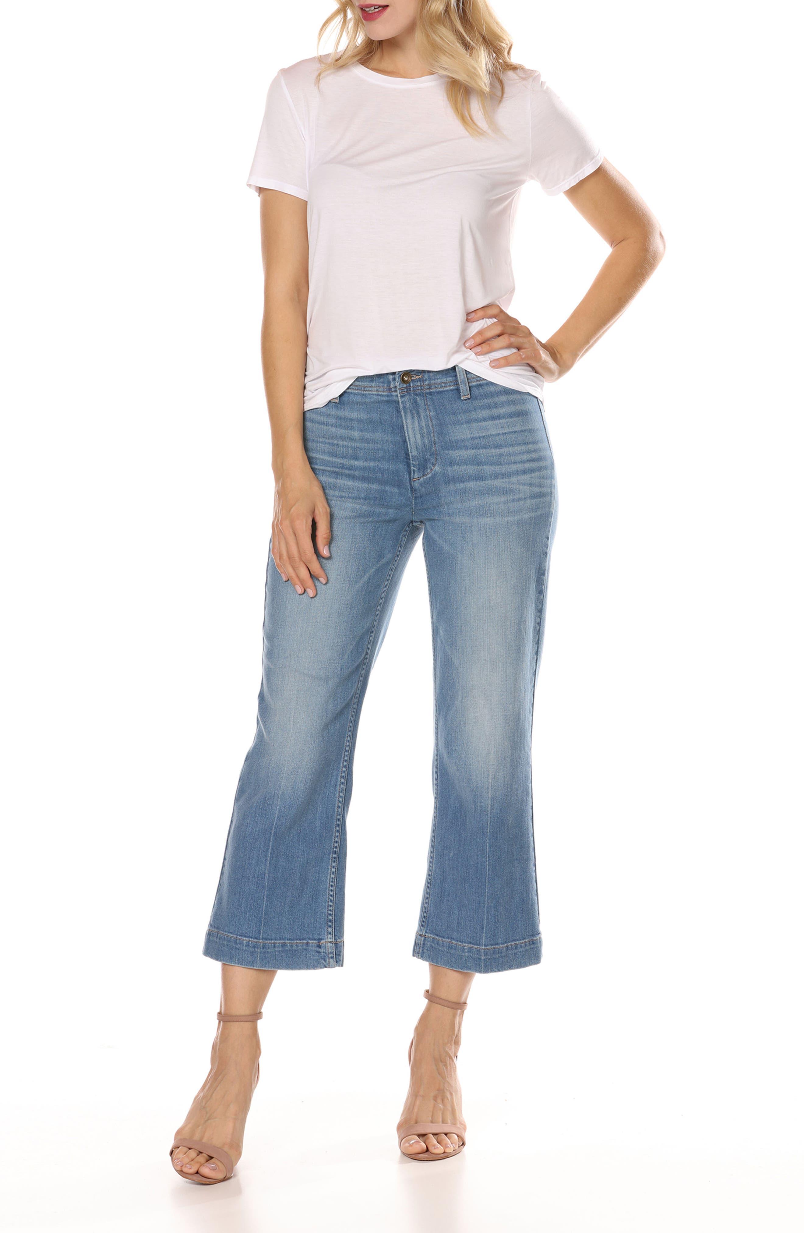 Nellie High Waist Culotte Jeans,                             Alternate thumbnail 3, color,                             400