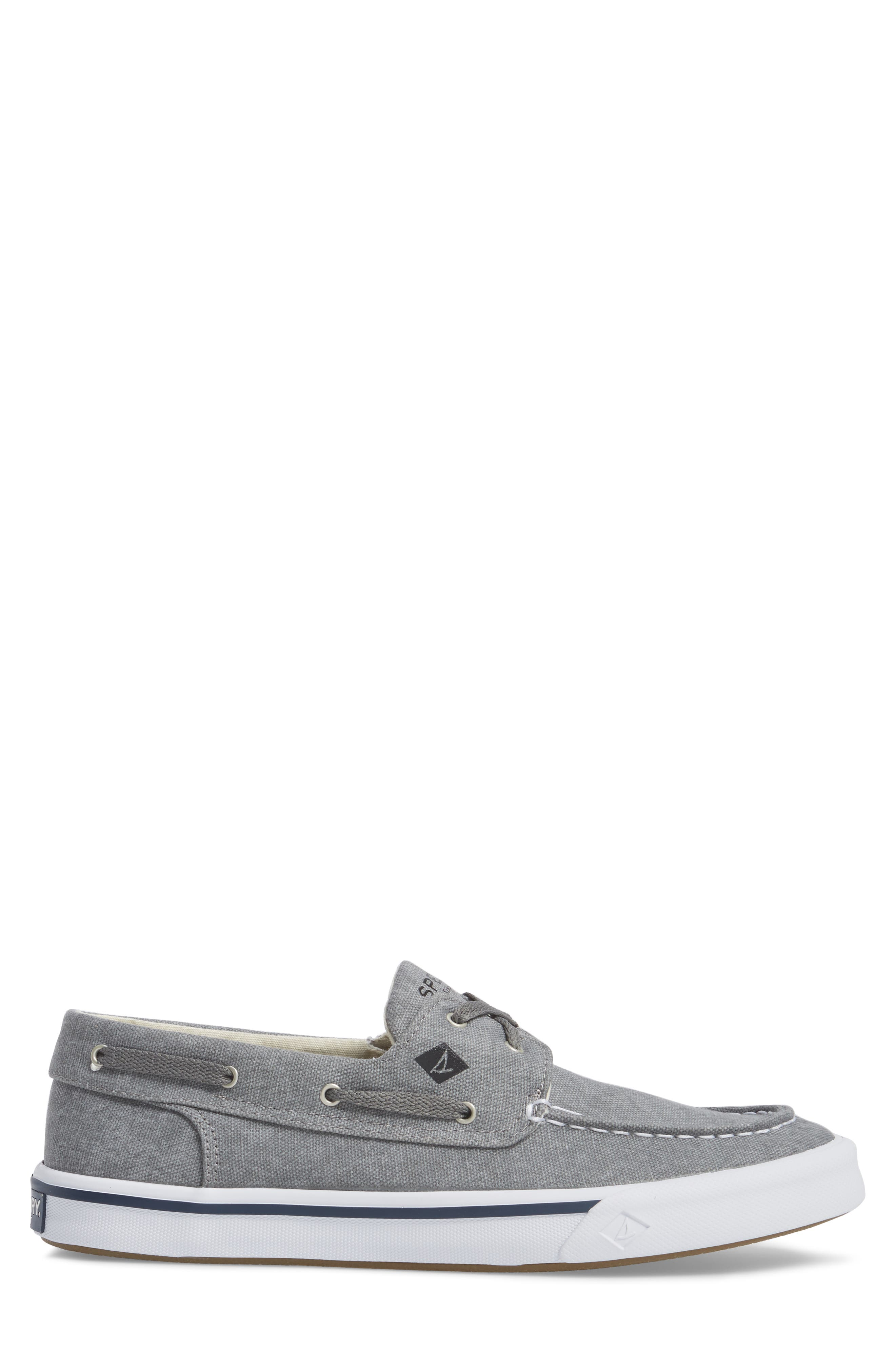 Striper 2 Boat Shoe,                             Alternate thumbnail 3, color,                             GREY CANVAS