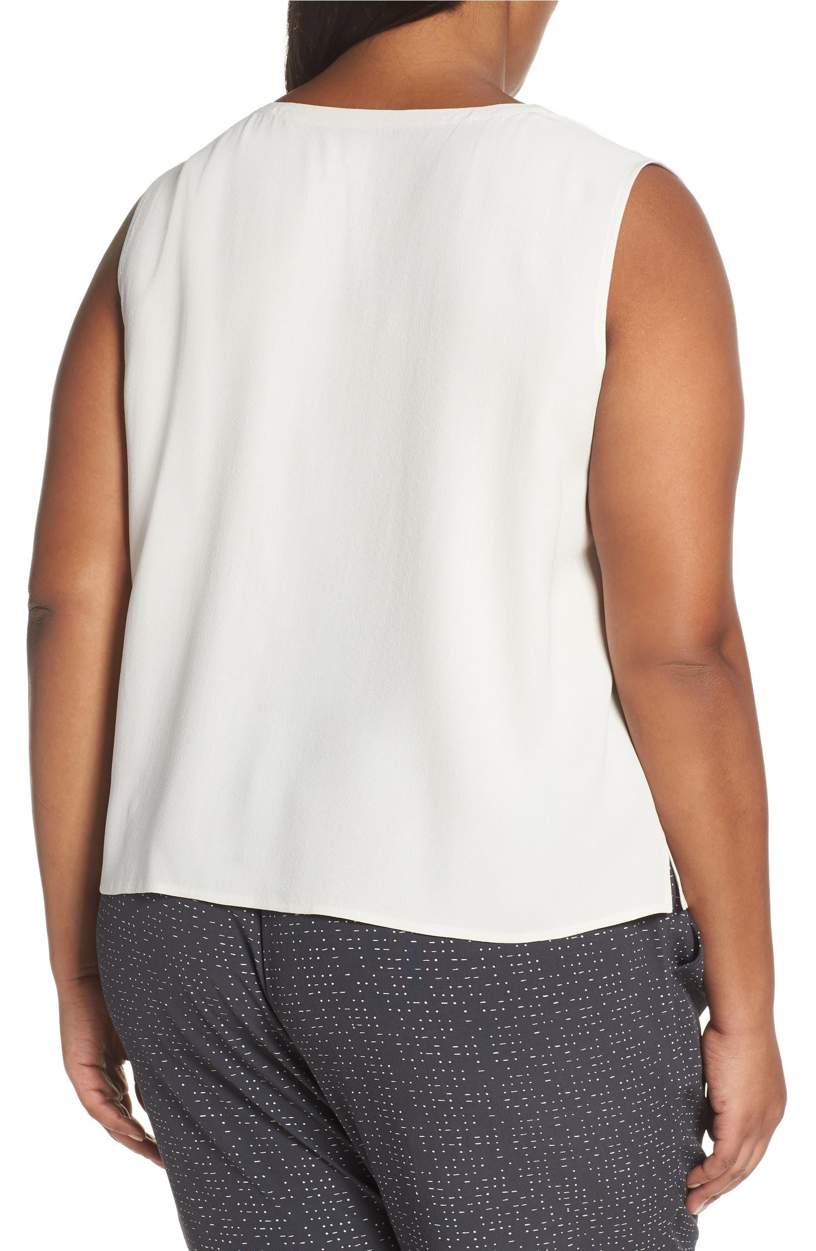 20cc1fe9089 Eileen Fisher Sleeveless Silk Top (Plus Size)