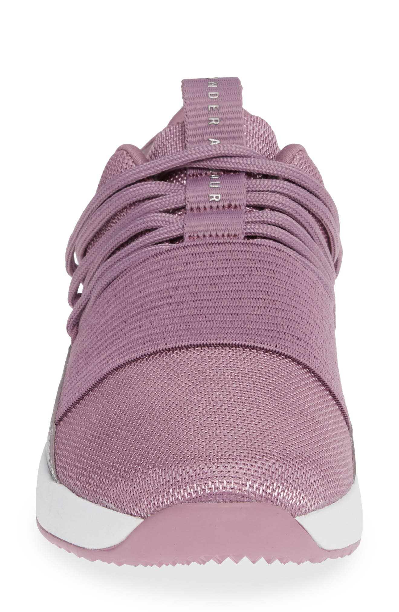 Breathe Lace X NM Sneaker,                             Alternate thumbnail 4, color,                             PURPLE PRIME/ WHITE/ WHITE
