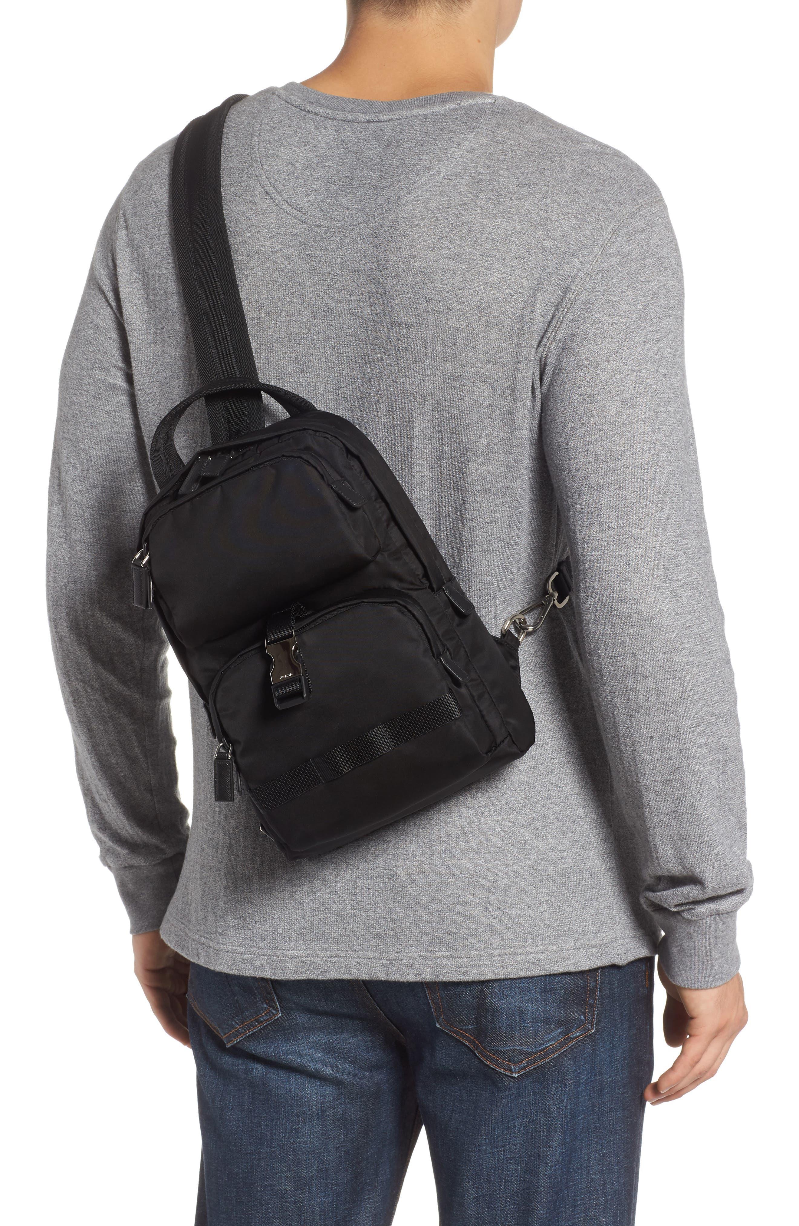 PRADA,                             Tessuto Small Sling Bag,                             Alternate thumbnail 2, color,                             001