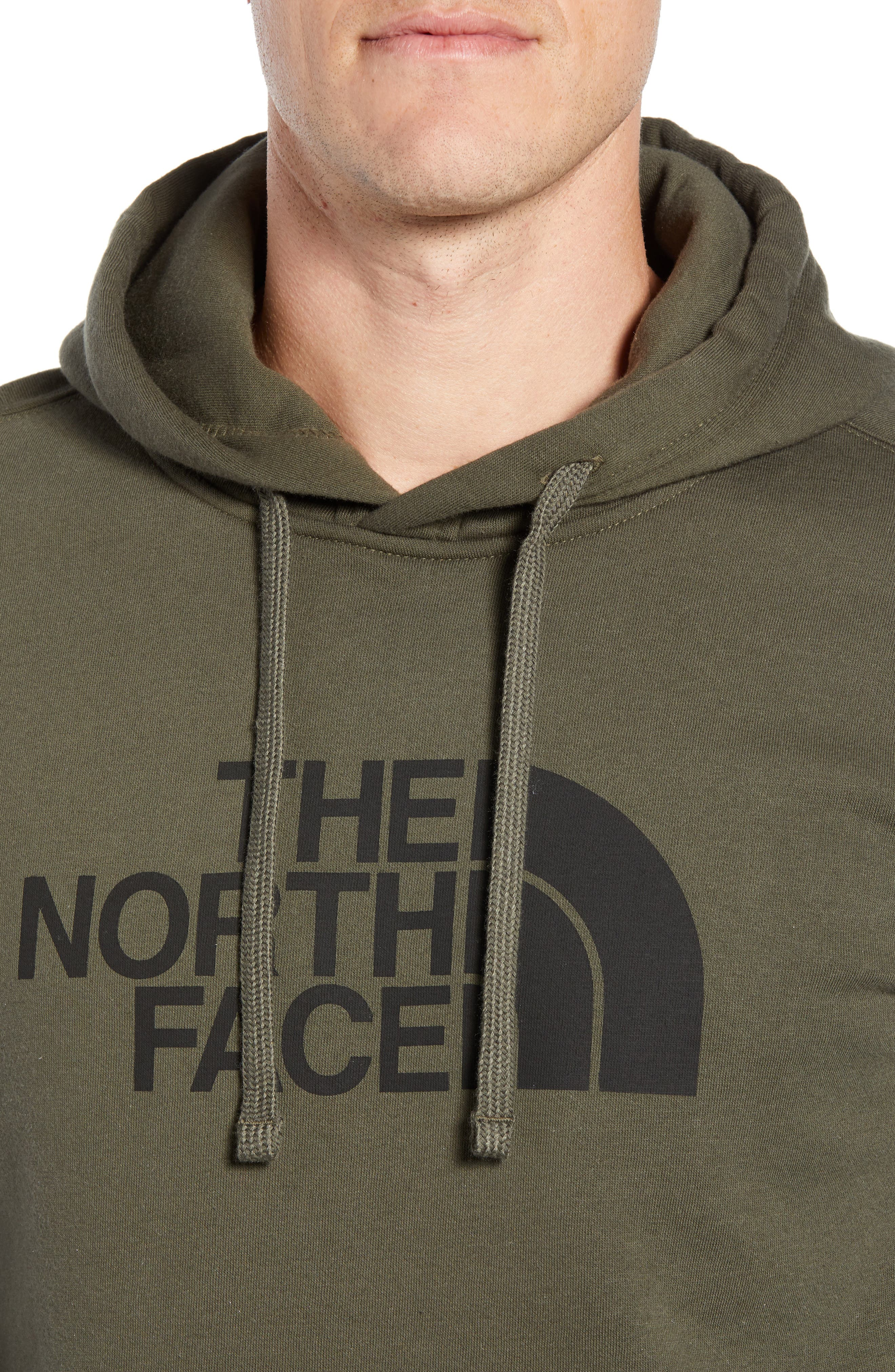 Holiday Half Dome Hooded Pullover,                             Alternate thumbnail 4, color,                             NEW TAUPE GREEN/ TNF BLACK
