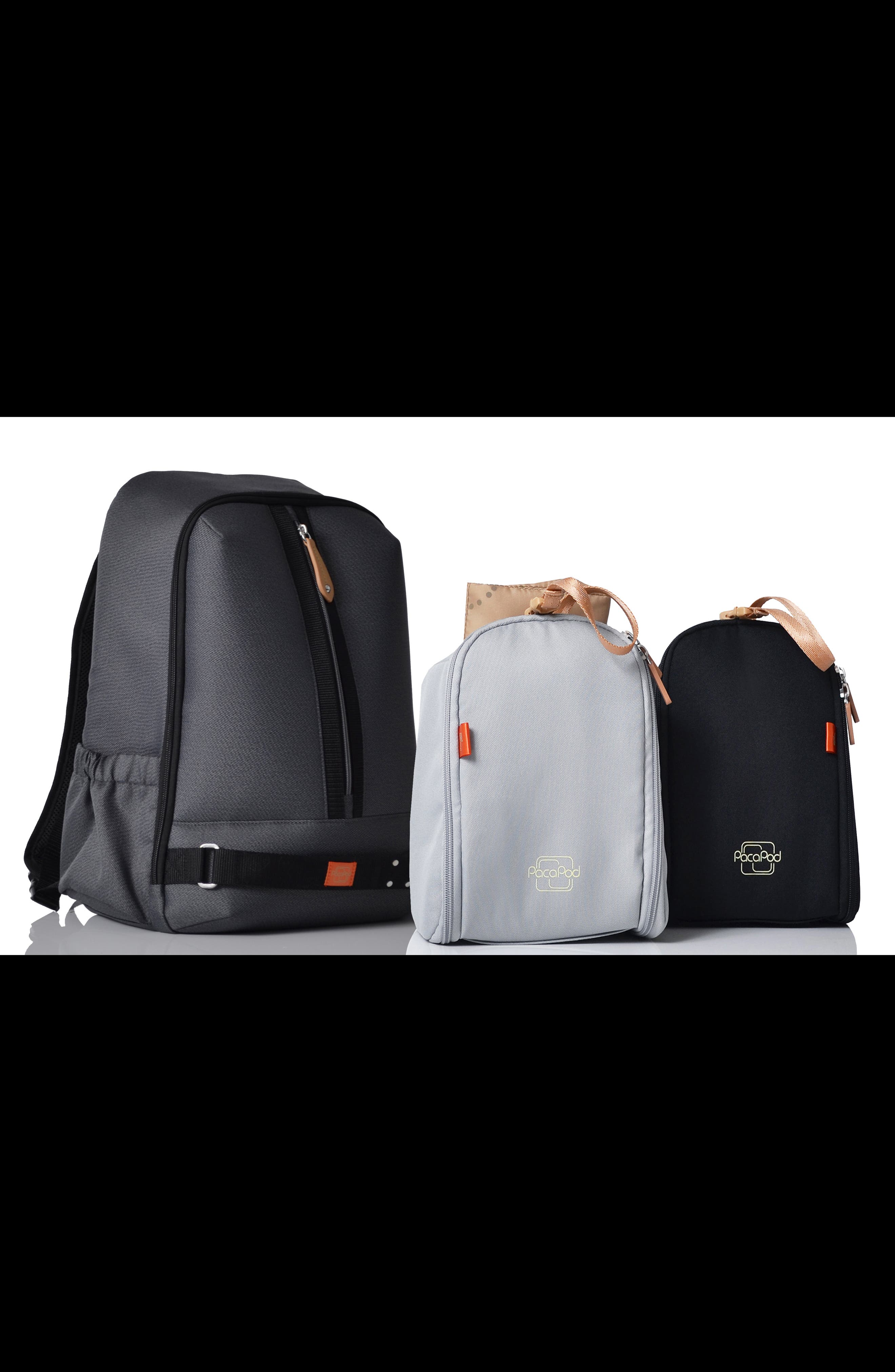 Picos Pack Diaper Backpack,                             Alternate thumbnail 4, color,                             BLACK CHARCOAL
