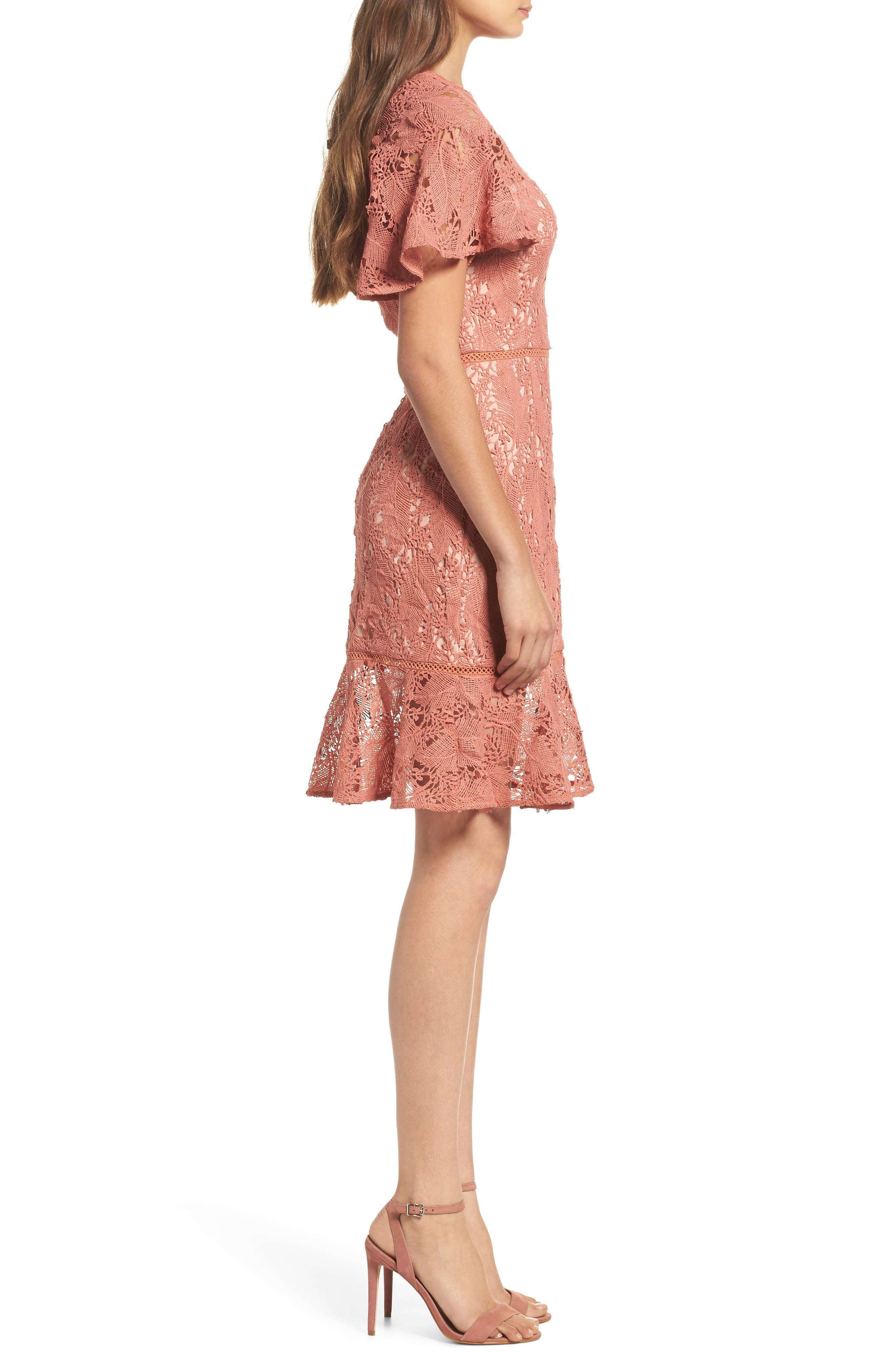 Monaco Flounce Hem Dress,                             Alternate thumbnail 3, color,