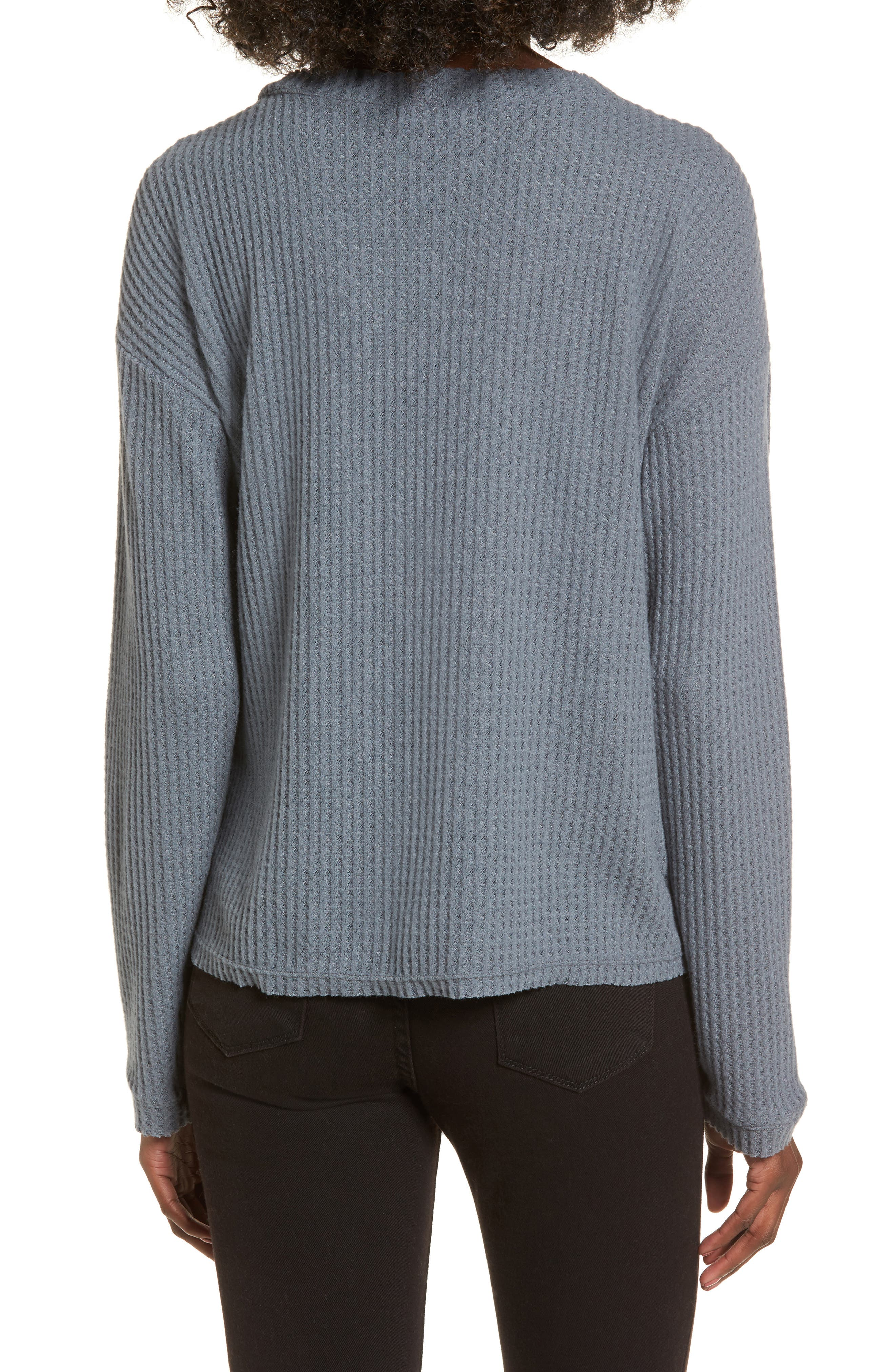Waffle Knit Top,                             Alternate thumbnail 6, color,