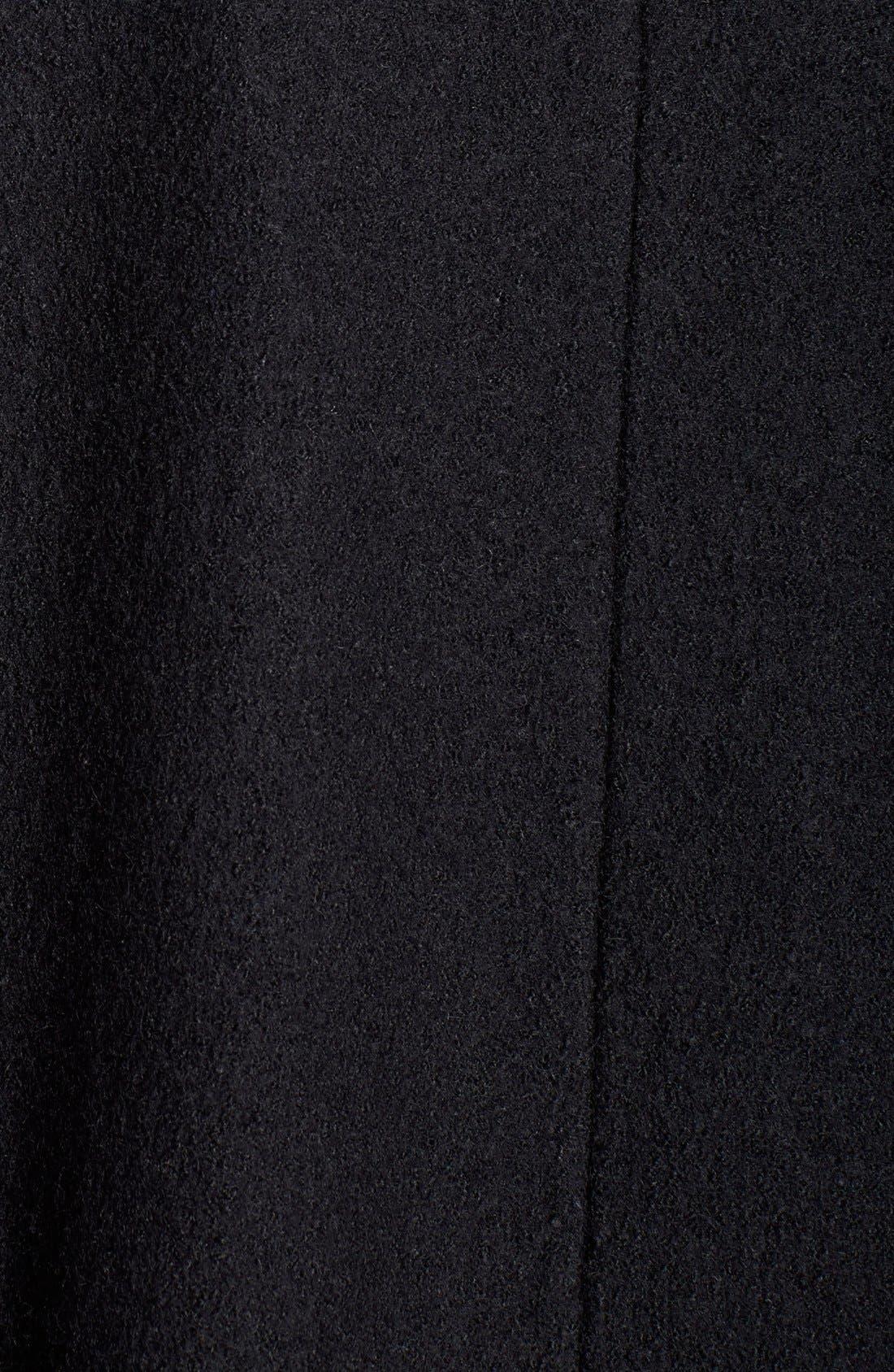 Hooded Boiled Wool Blend Swing Coat,                             Alternate thumbnail 2, color,                             001