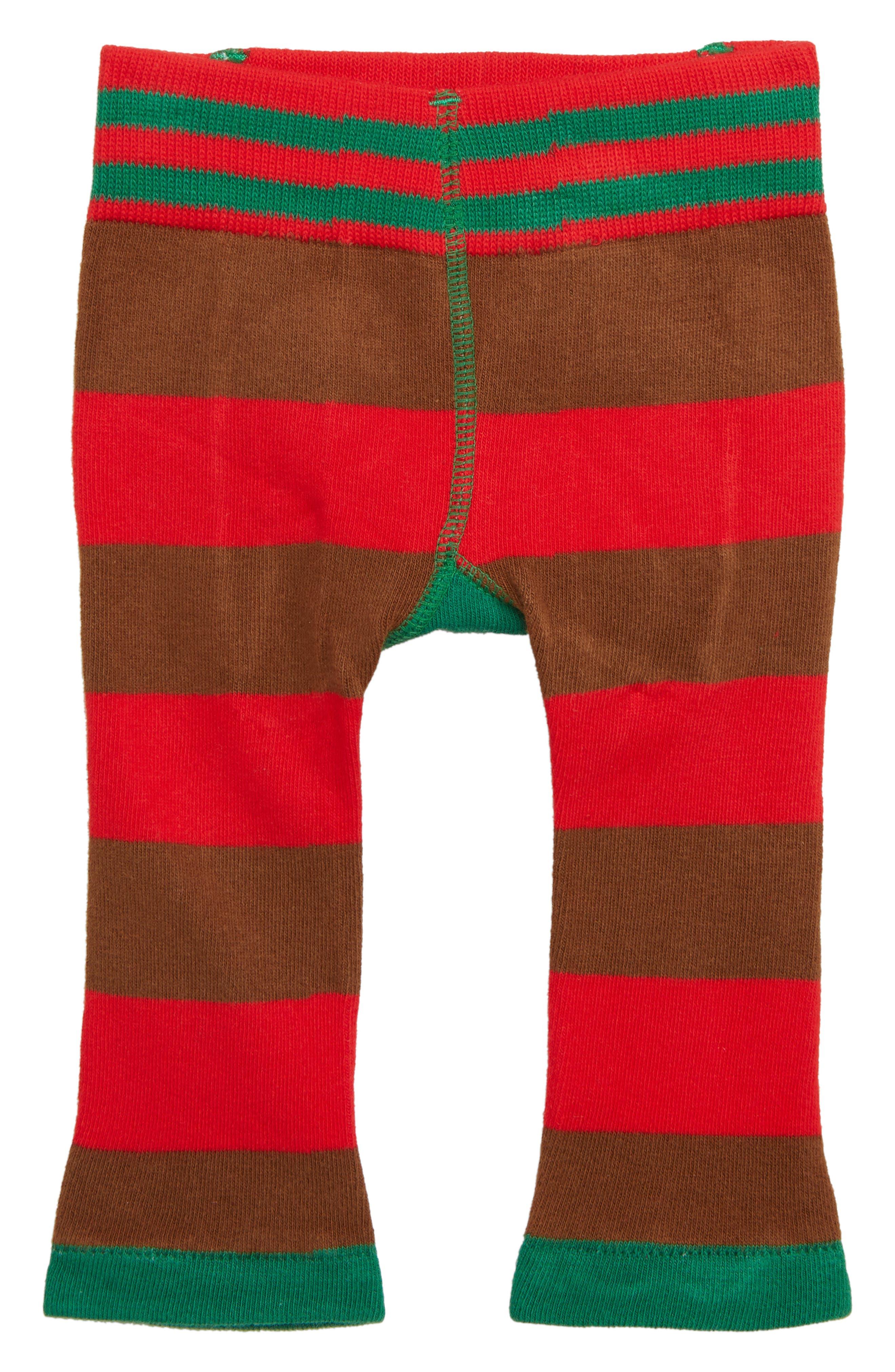Santa Leggings,                         Main,                         color, RED/ GREEN/ DEEP RED
