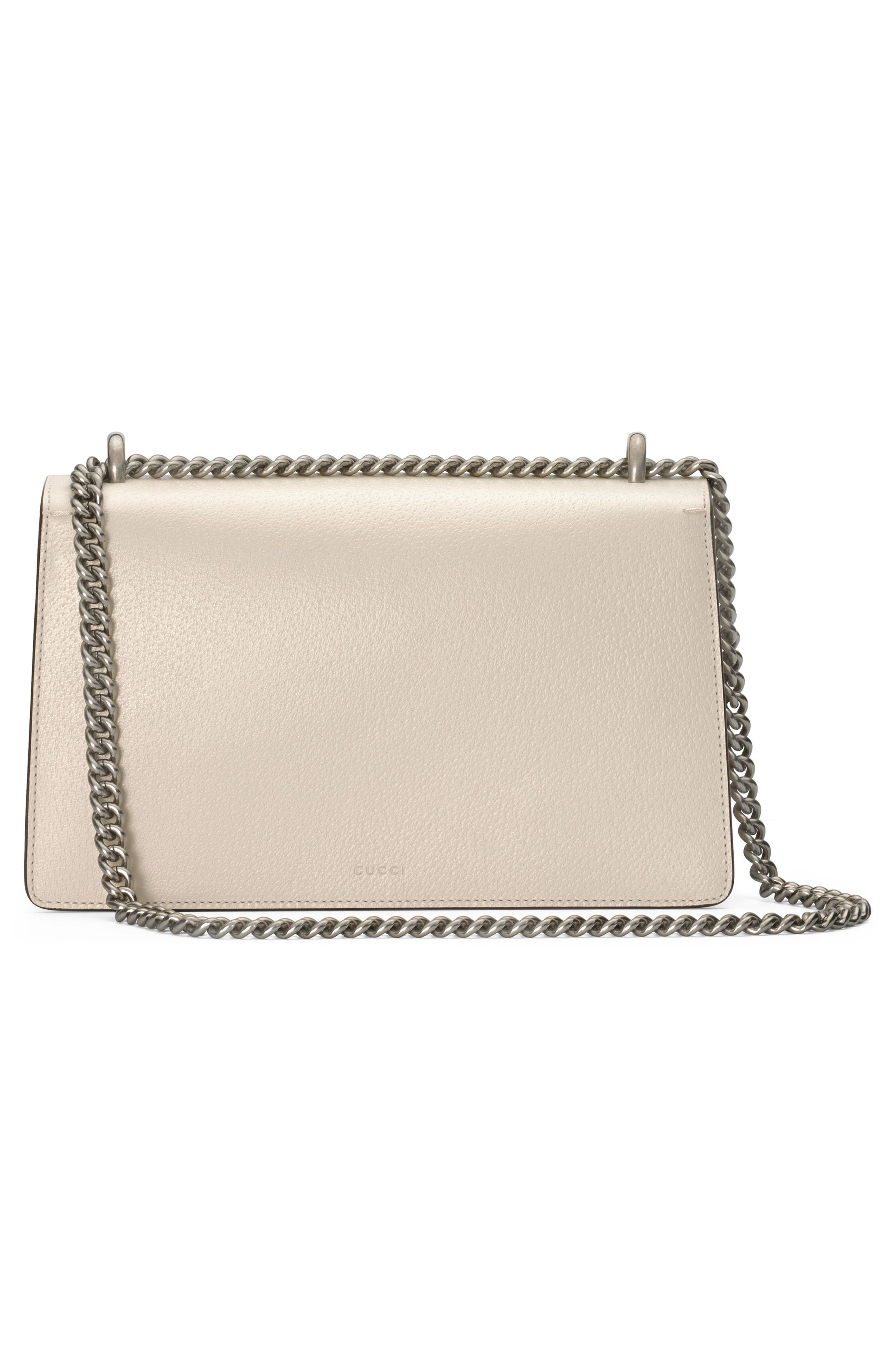 Small Dionysus Leather Shoulder Bag,                             Alternate thumbnail 2, color,                             IVORY/ BLACK DIAMOND