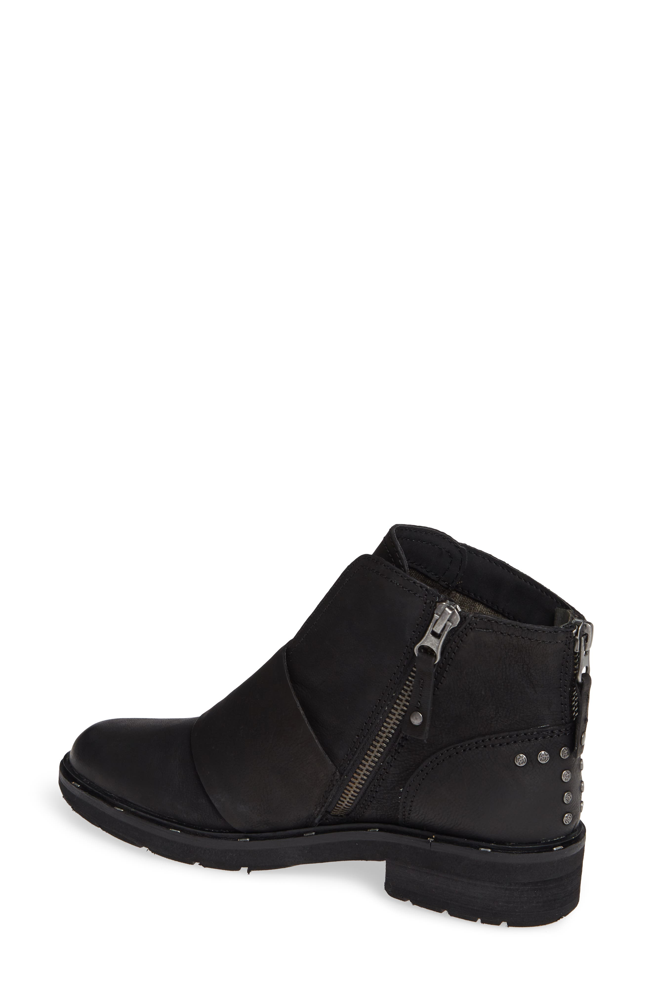 Frontage Bootie,                             Alternate thumbnail 2, color,                             BLACK LEATHER