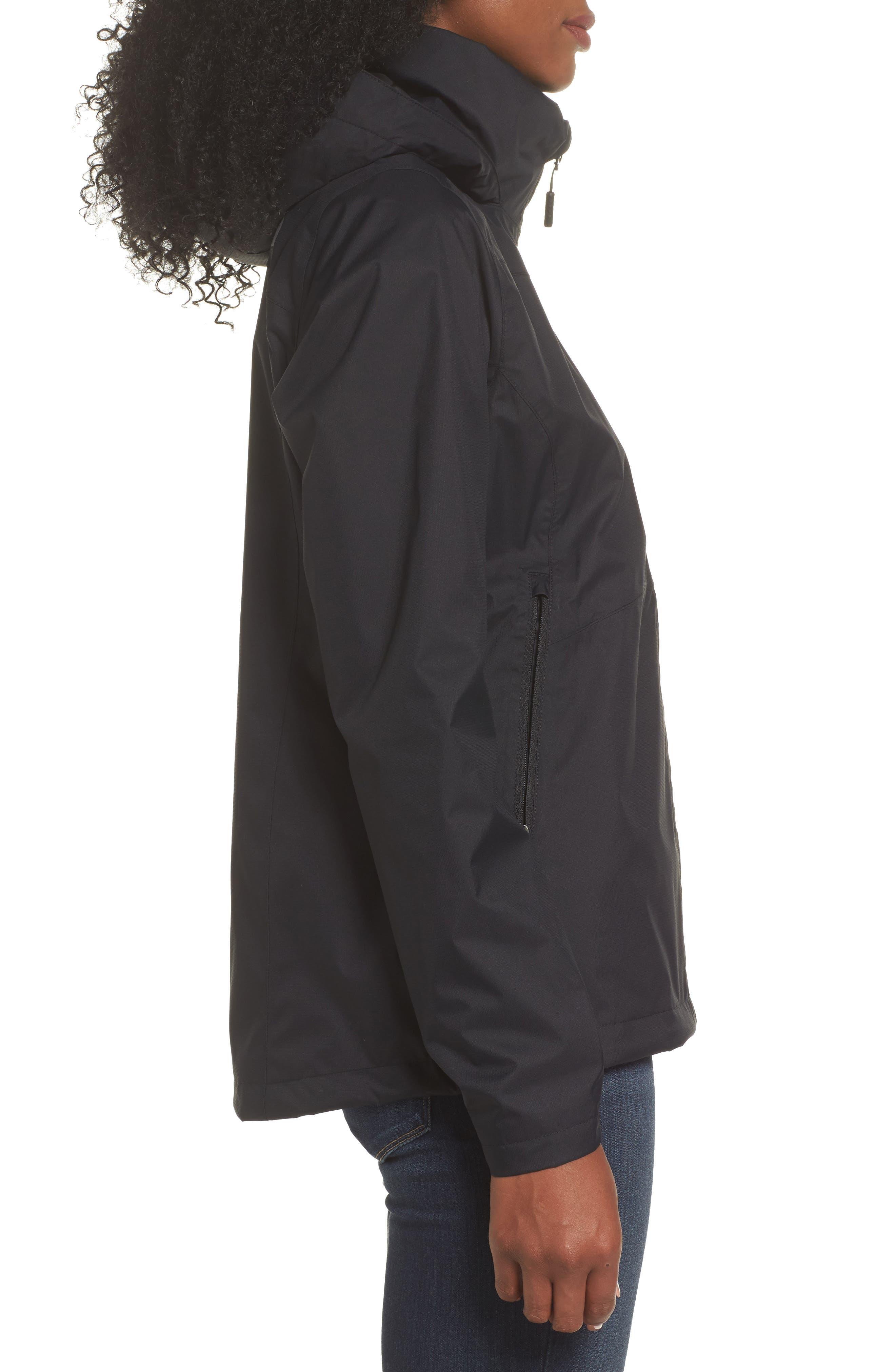 'Resolve Plus' Waterproof Jacket,                             Alternate thumbnail 3, color,                             TNF BLACK