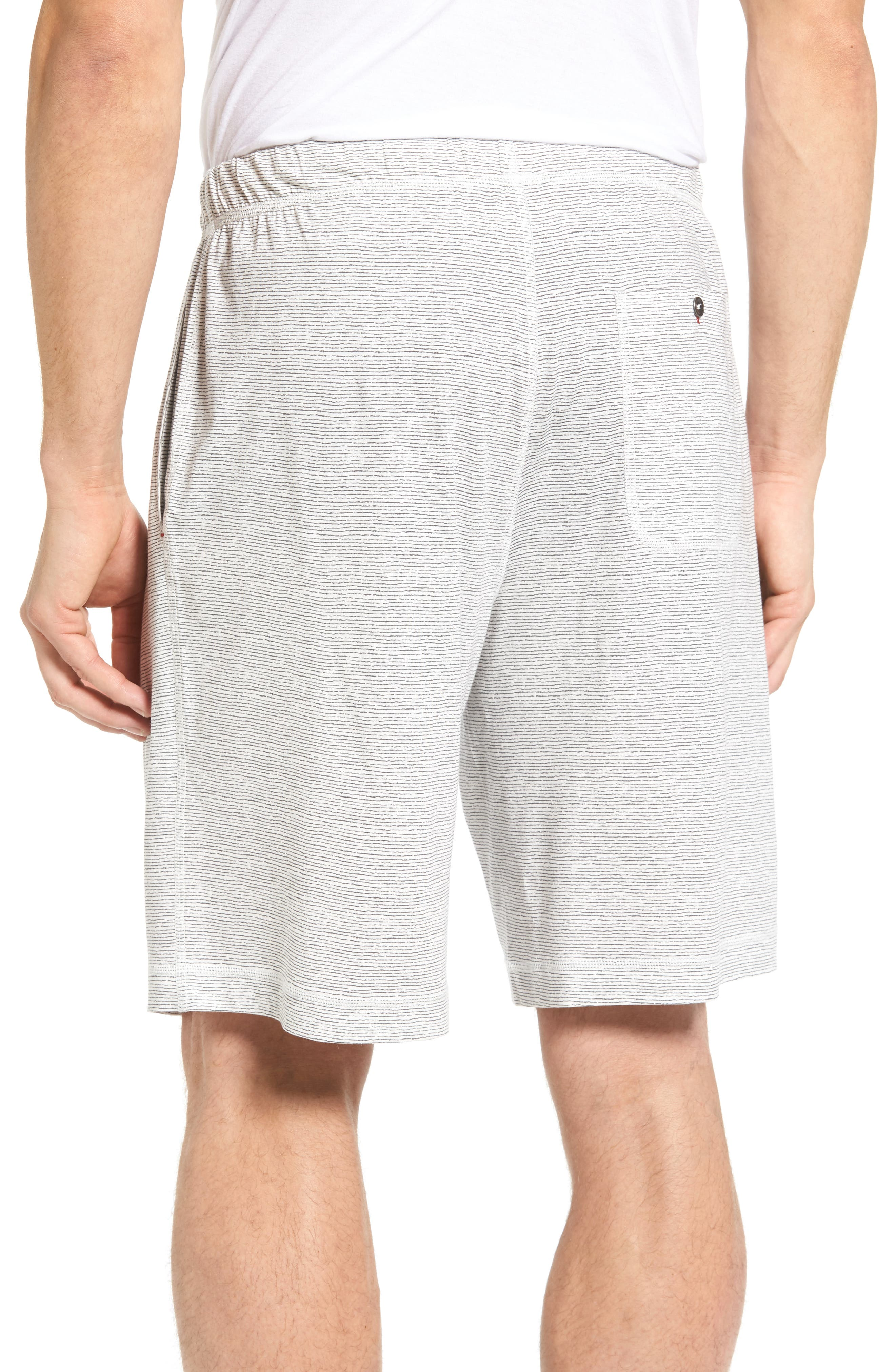 Feeder Stripe Pima Cotton & Modal Lounge Shorts,                             Alternate thumbnail 2, color,                             020