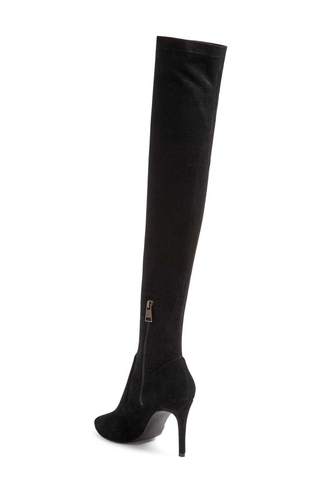 JOIE,                             'Jemina' Over the Knee Boot,                             Alternate thumbnail 4, color,                             001