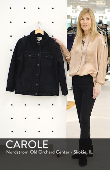 Oversize Denim Jacket with Fleece Collar, sales video thumbnail