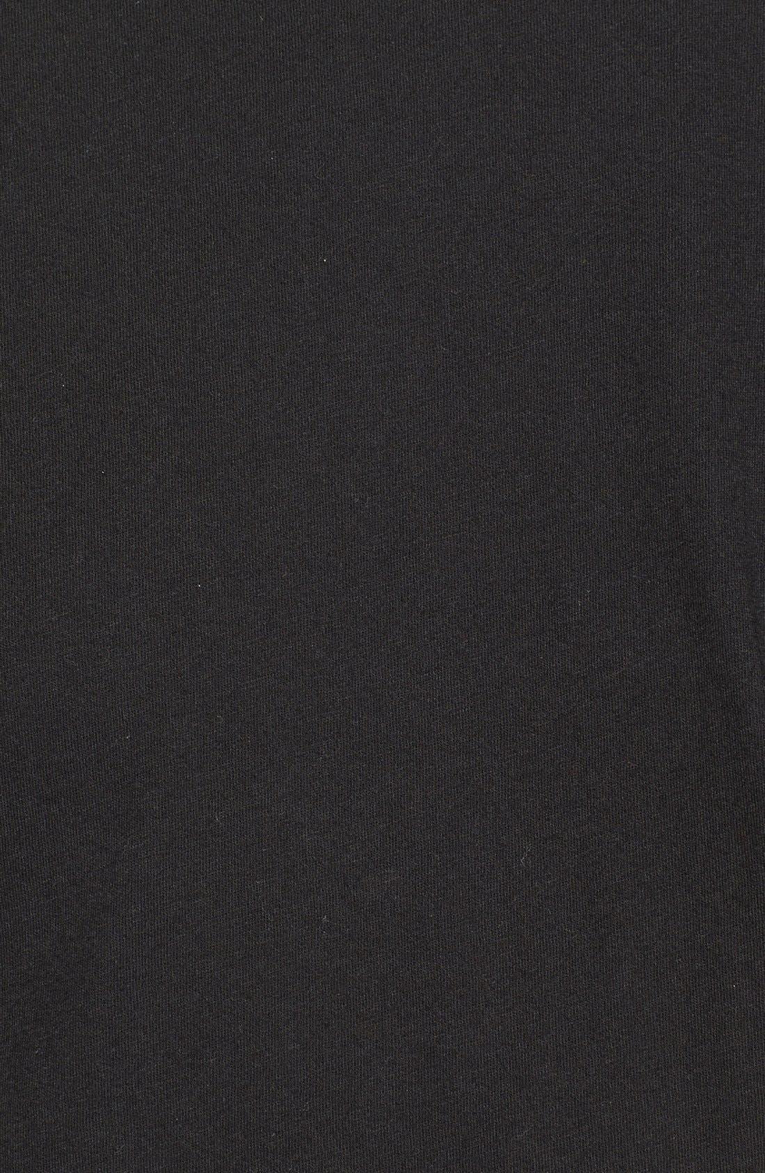 Crewneck Jersey T-Shirt,                             Alternate thumbnail 3, color,                             BLACK