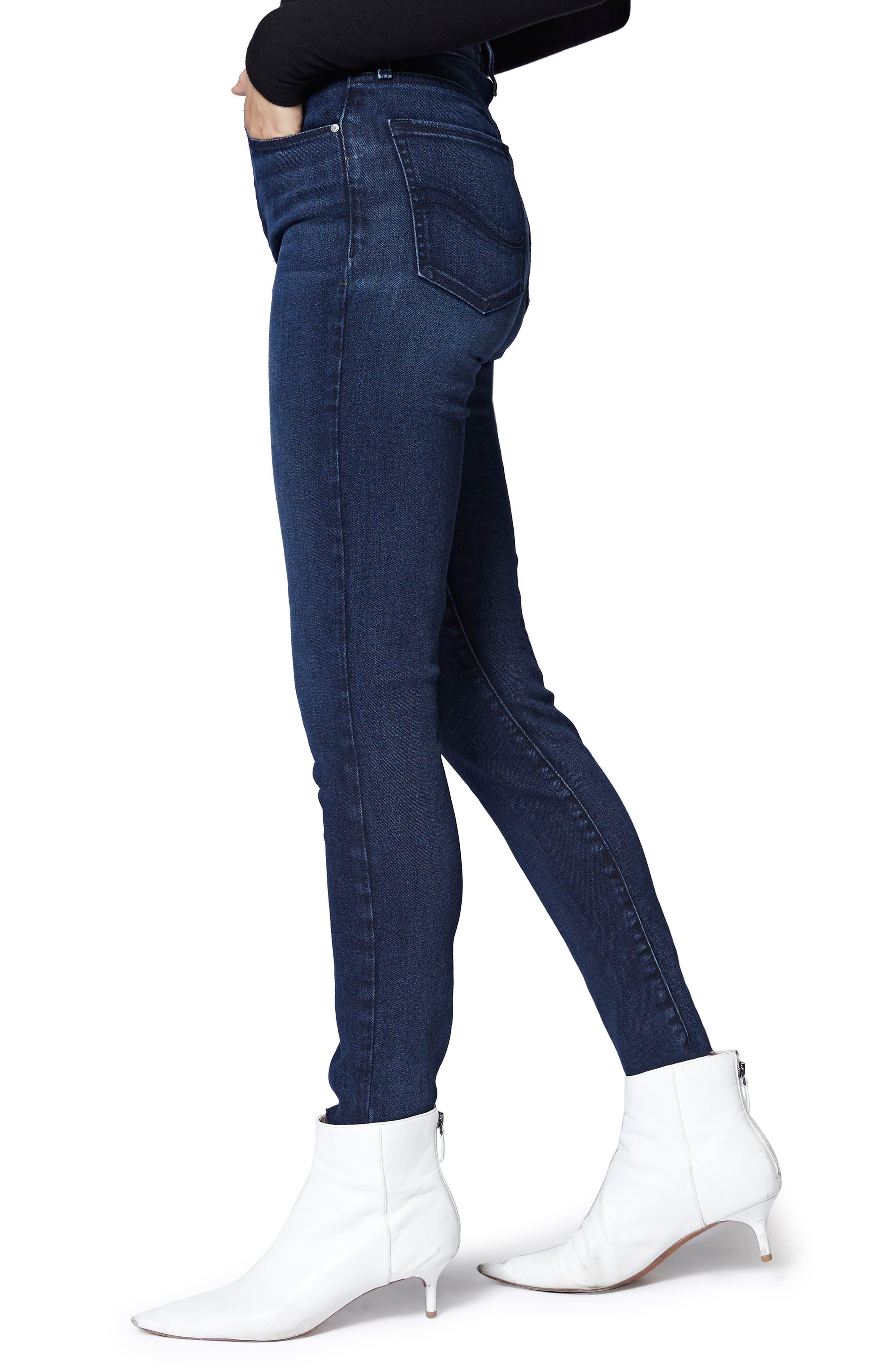SANCTUARY,                             Social High Rise Raw Hem Skinny Ankle Jeans,                             Alternate thumbnail 3, color,                             401