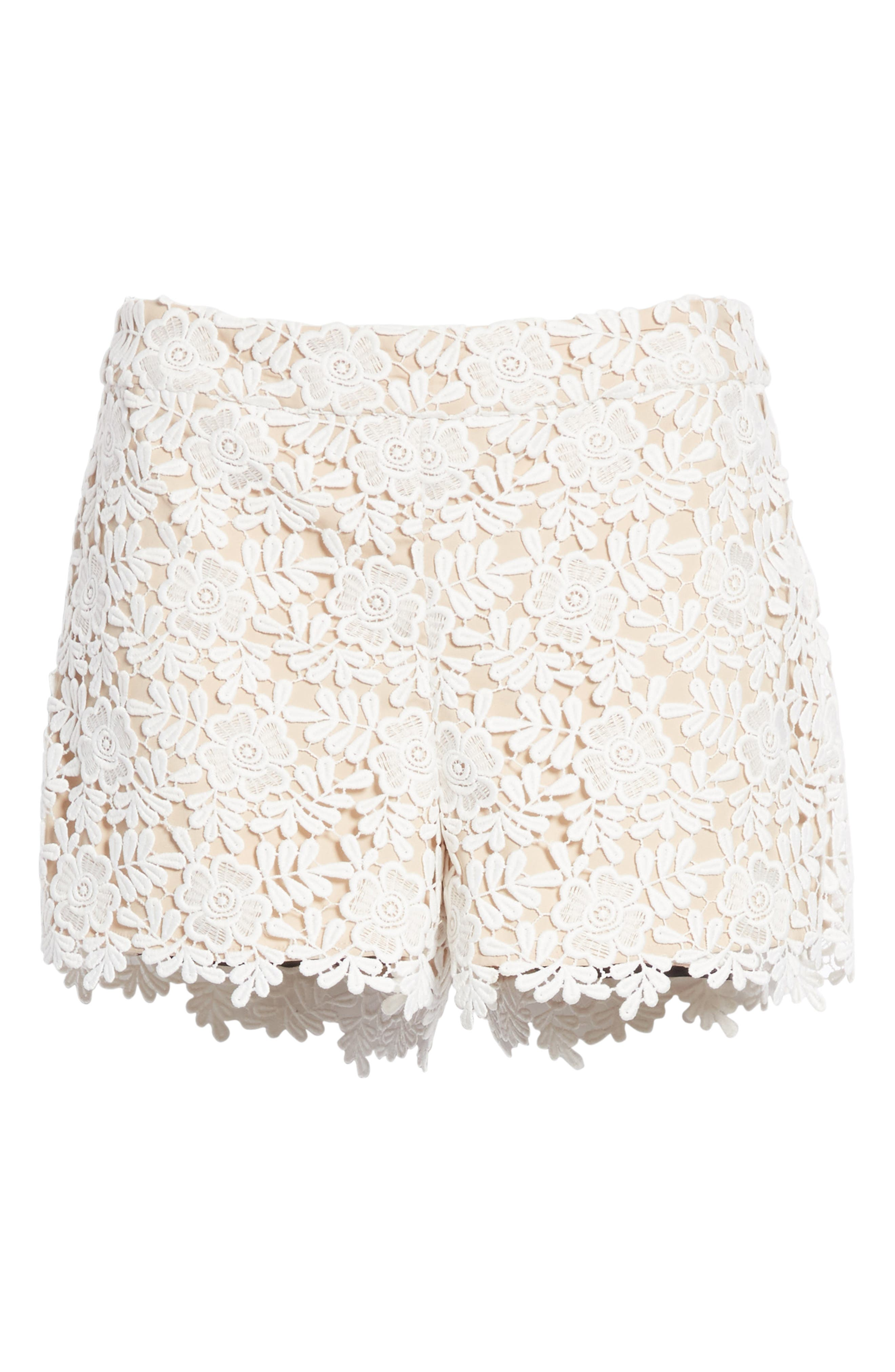 Marisa Floral Lace Shorts,                             Alternate thumbnail 6, color,
