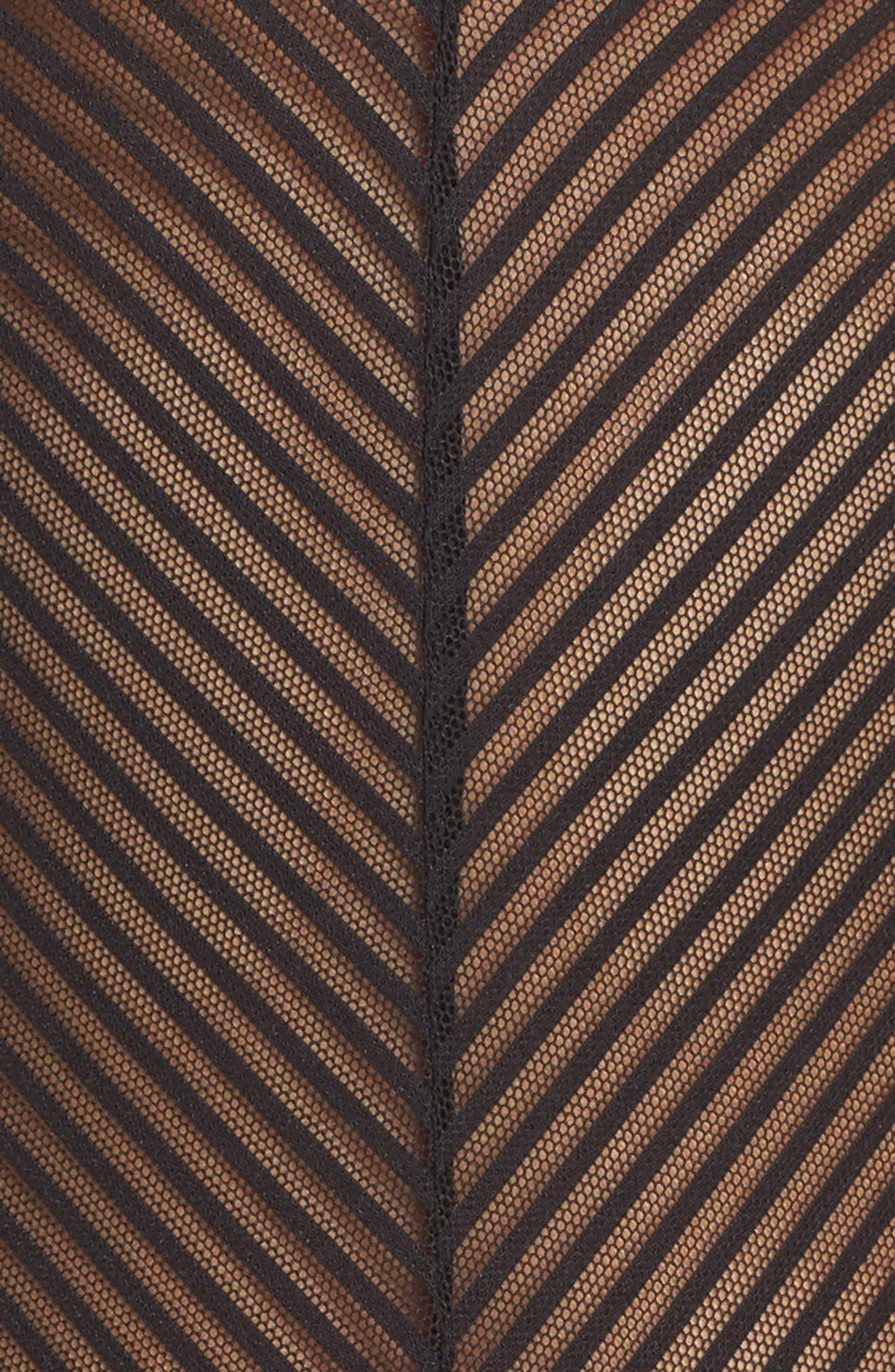 Shiny Stripe Bodysuit,                             Alternate thumbnail 5, color,                             001