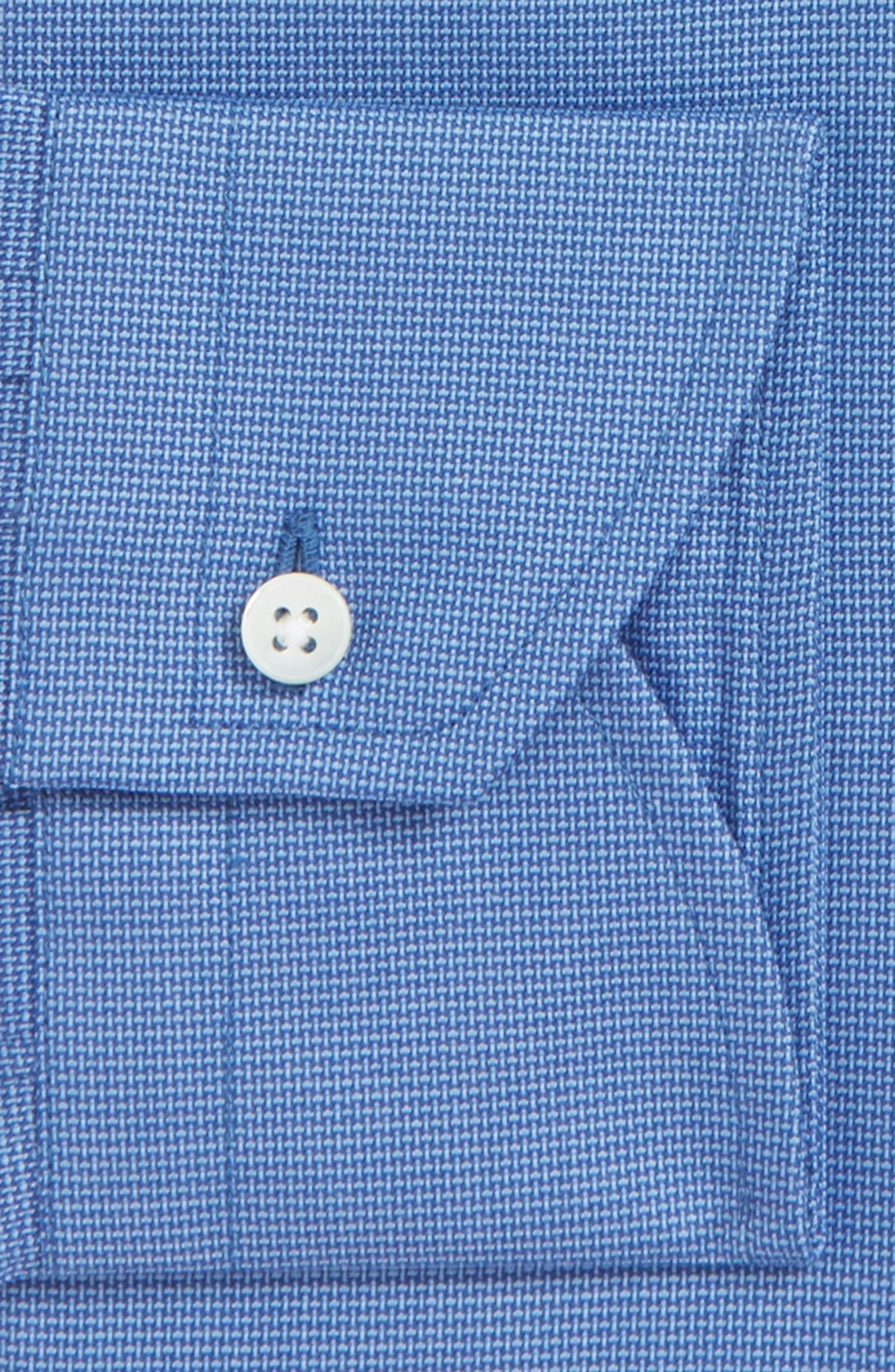 Trim Fit Dress Shirt,                             Alternate thumbnail 6, color,                             DARK BLUE