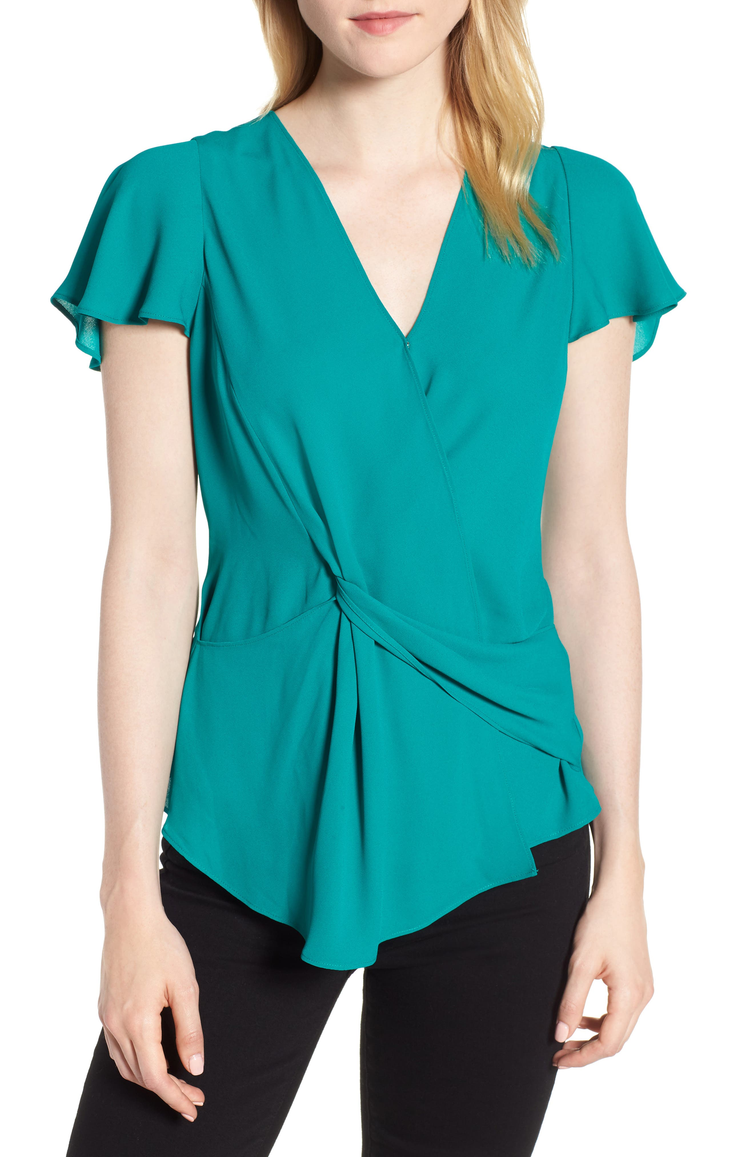 Knot Front Blouse,                         Main,                         color, 449