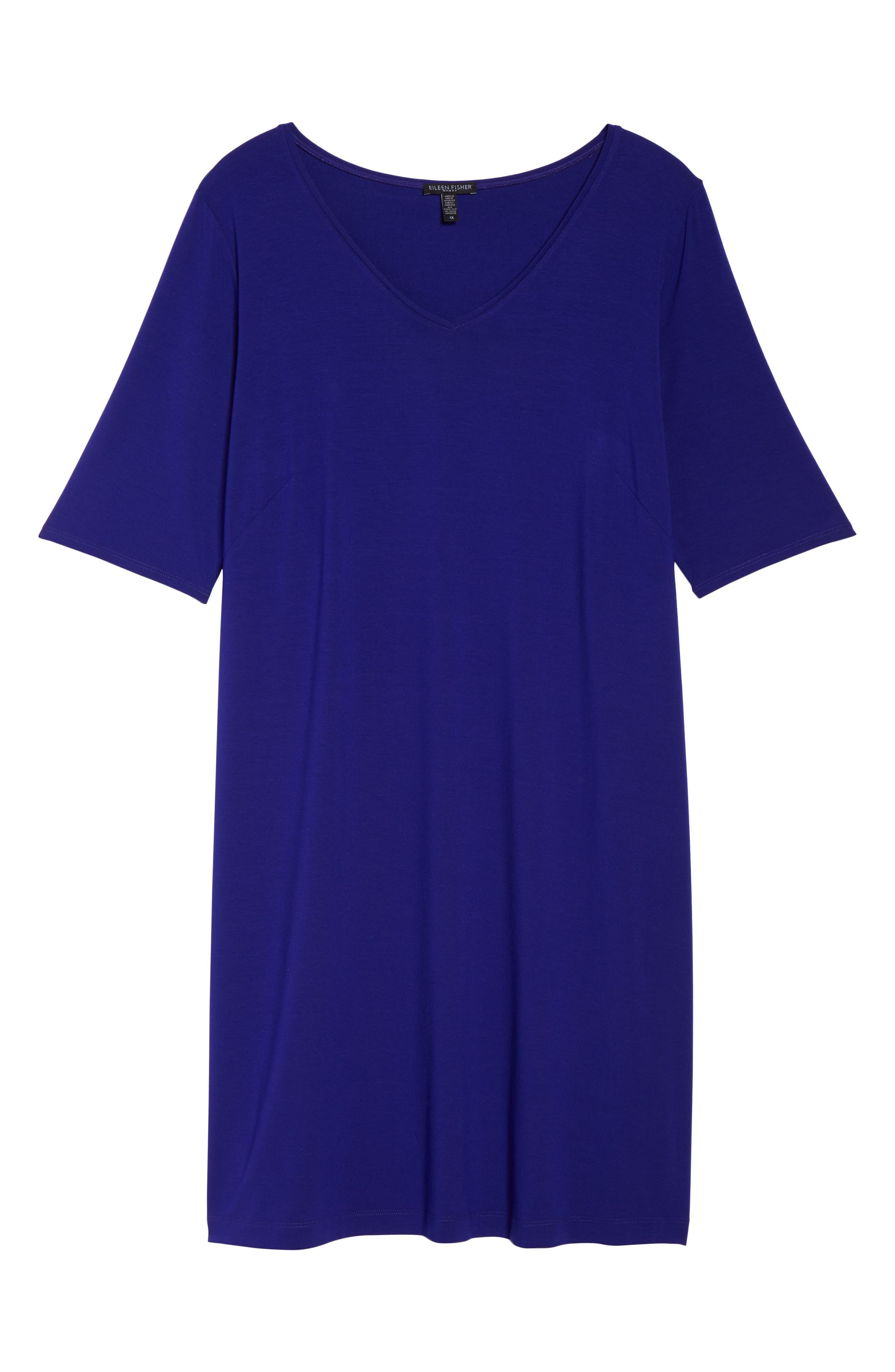 V-Neck Stretch Jersey Shift Dress,                             Alternate thumbnail 29, color,