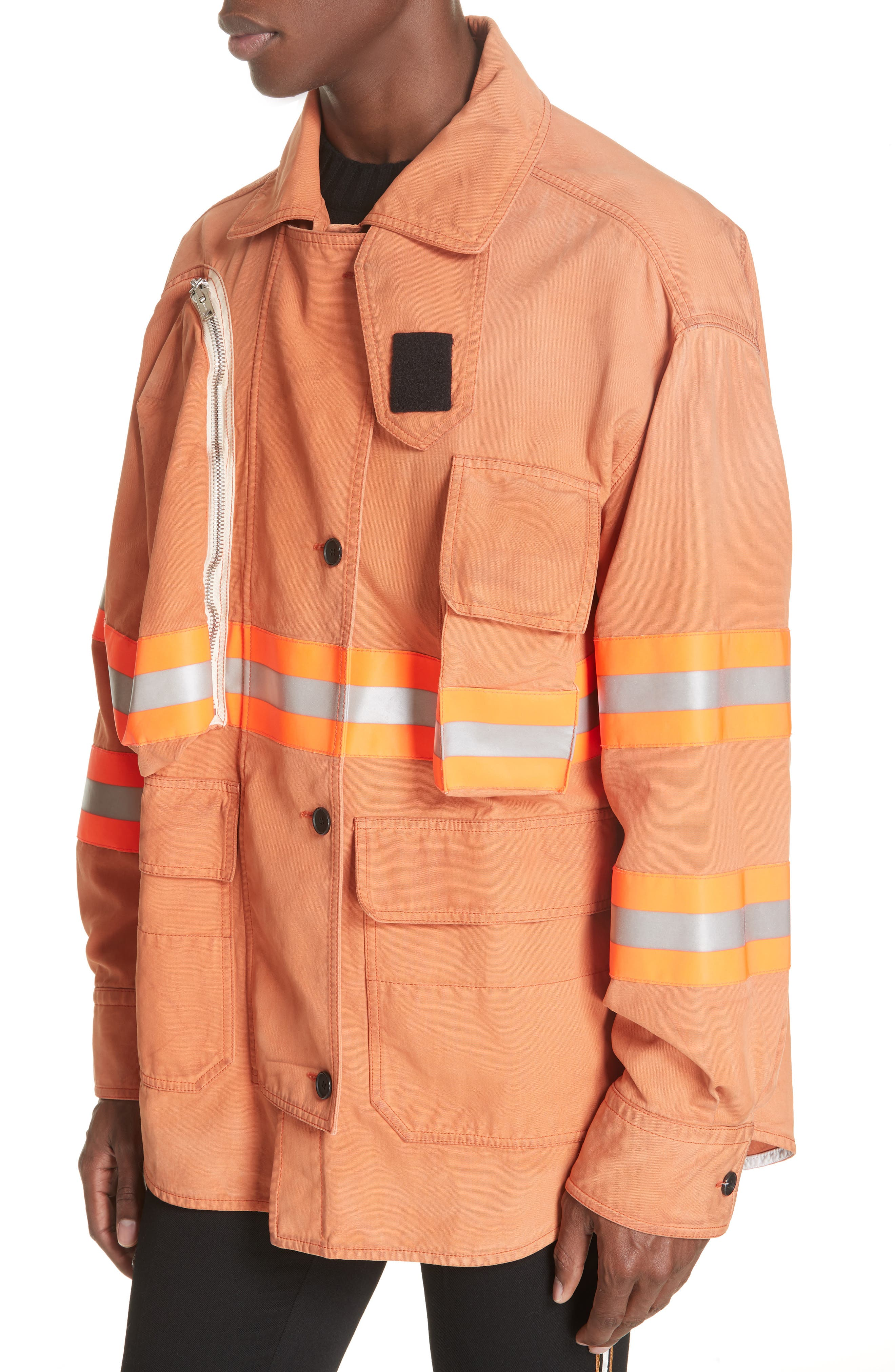 Fireman Jacket,                             Alternate thumbnail 4, color,                             BRIGHT RUST