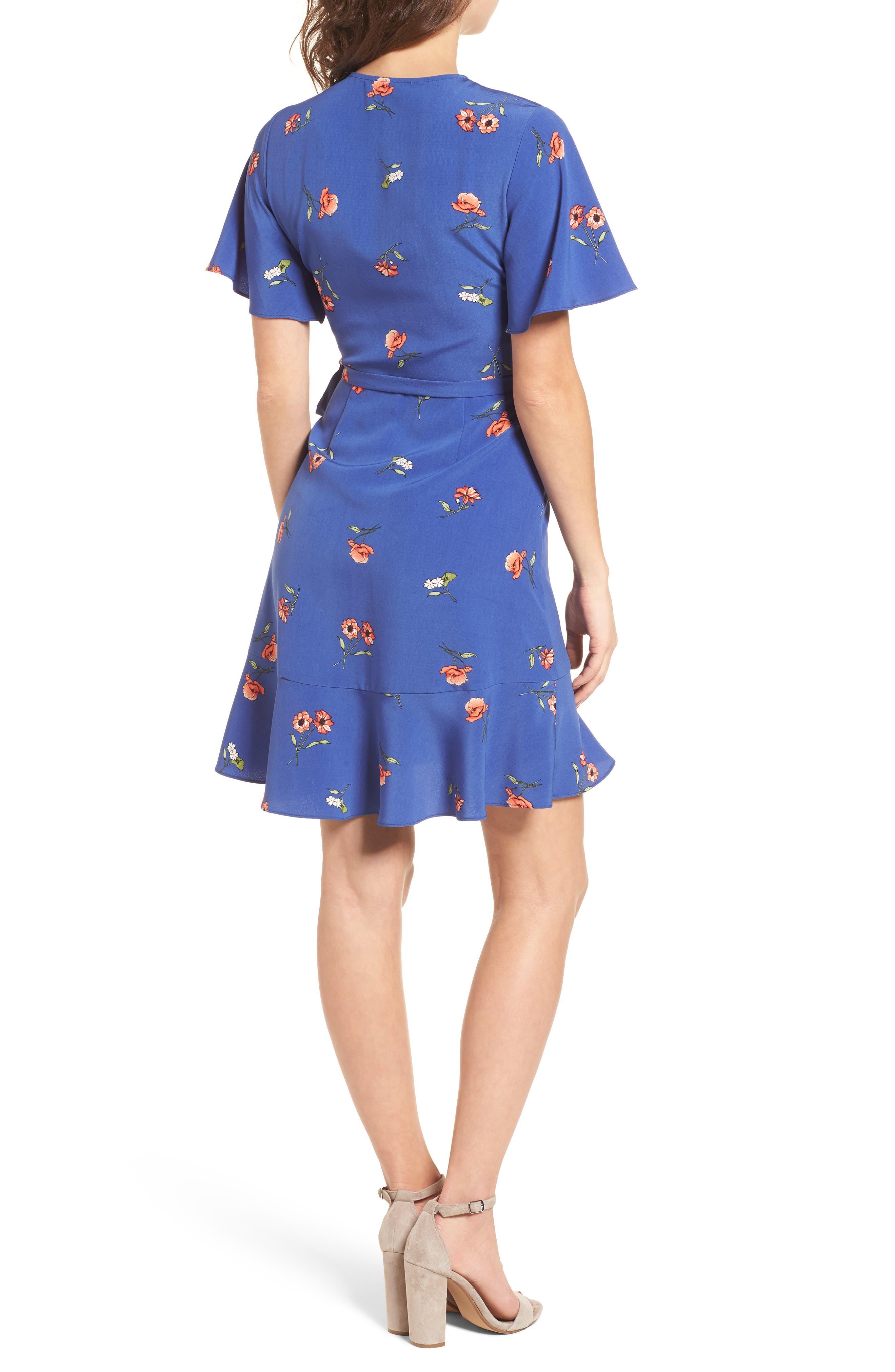 Lucy Floral Wrap Dress,                             Alternate thumbnail 7, color,