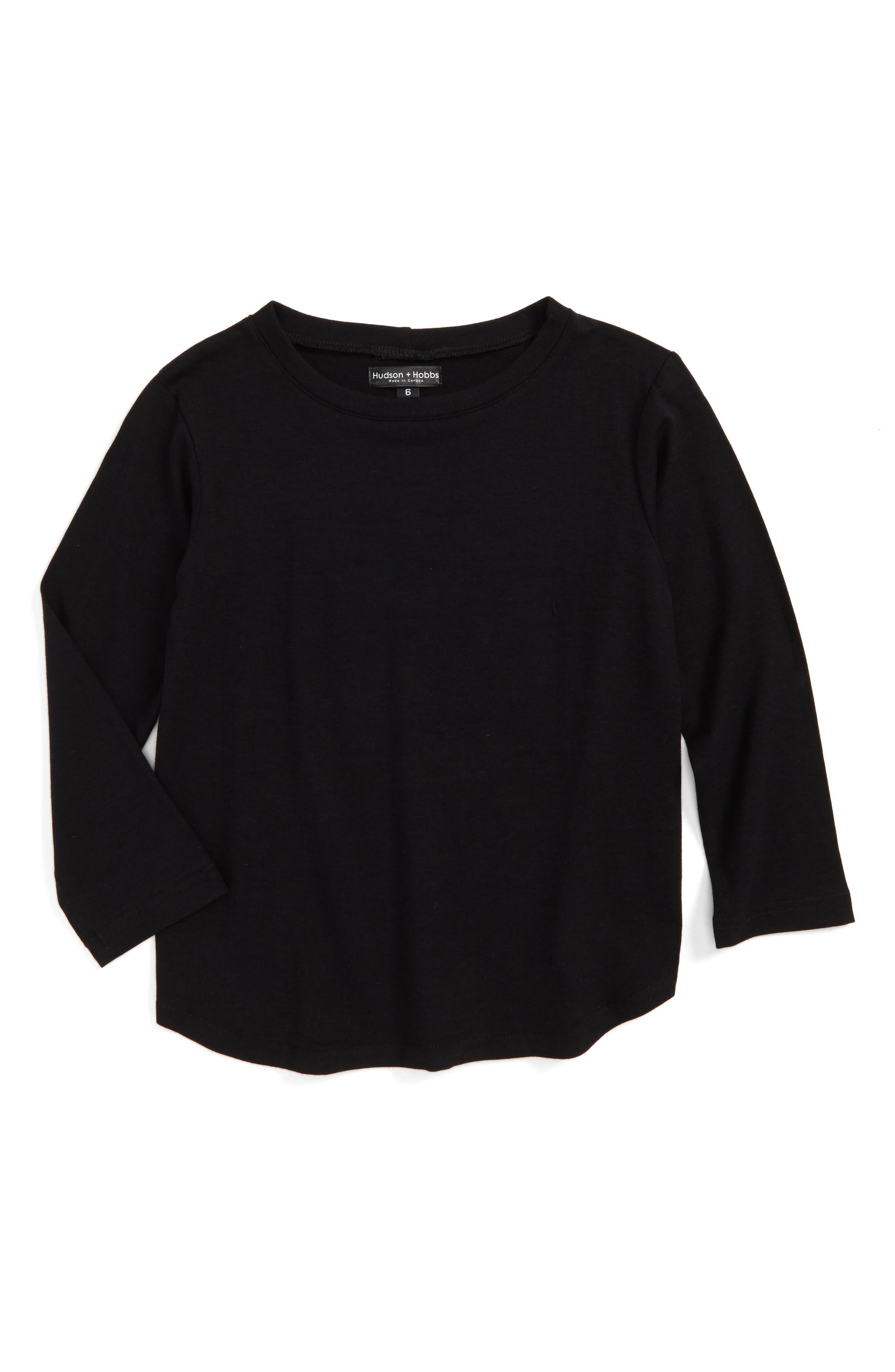 Long Sleeve T-Shirt,                         Main,                         color, 001