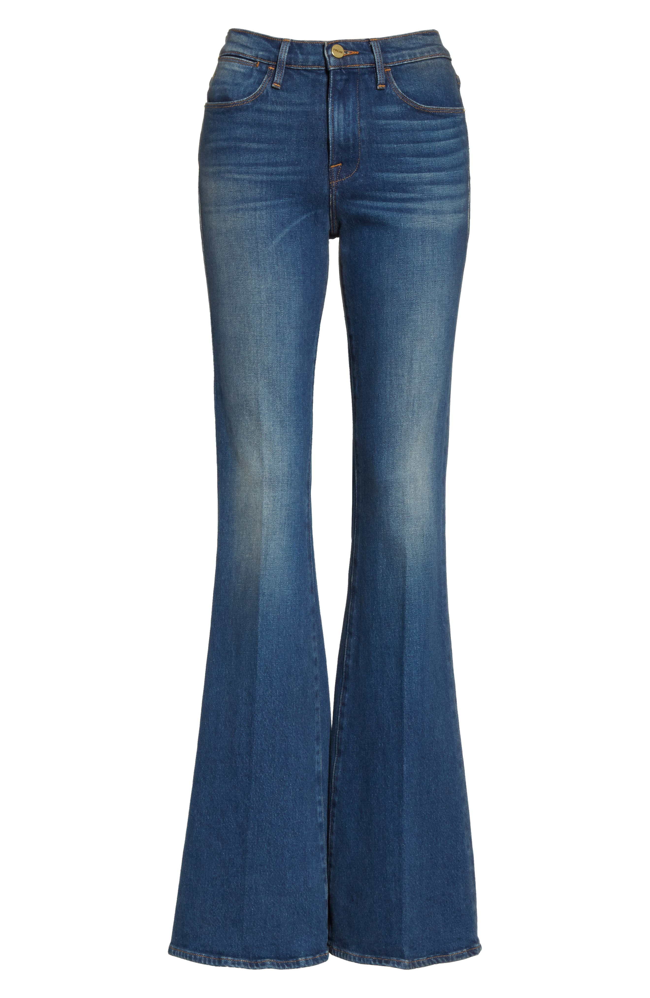 Le High Flare Jeans,                             Alternate thumbnail 7, color,                             401