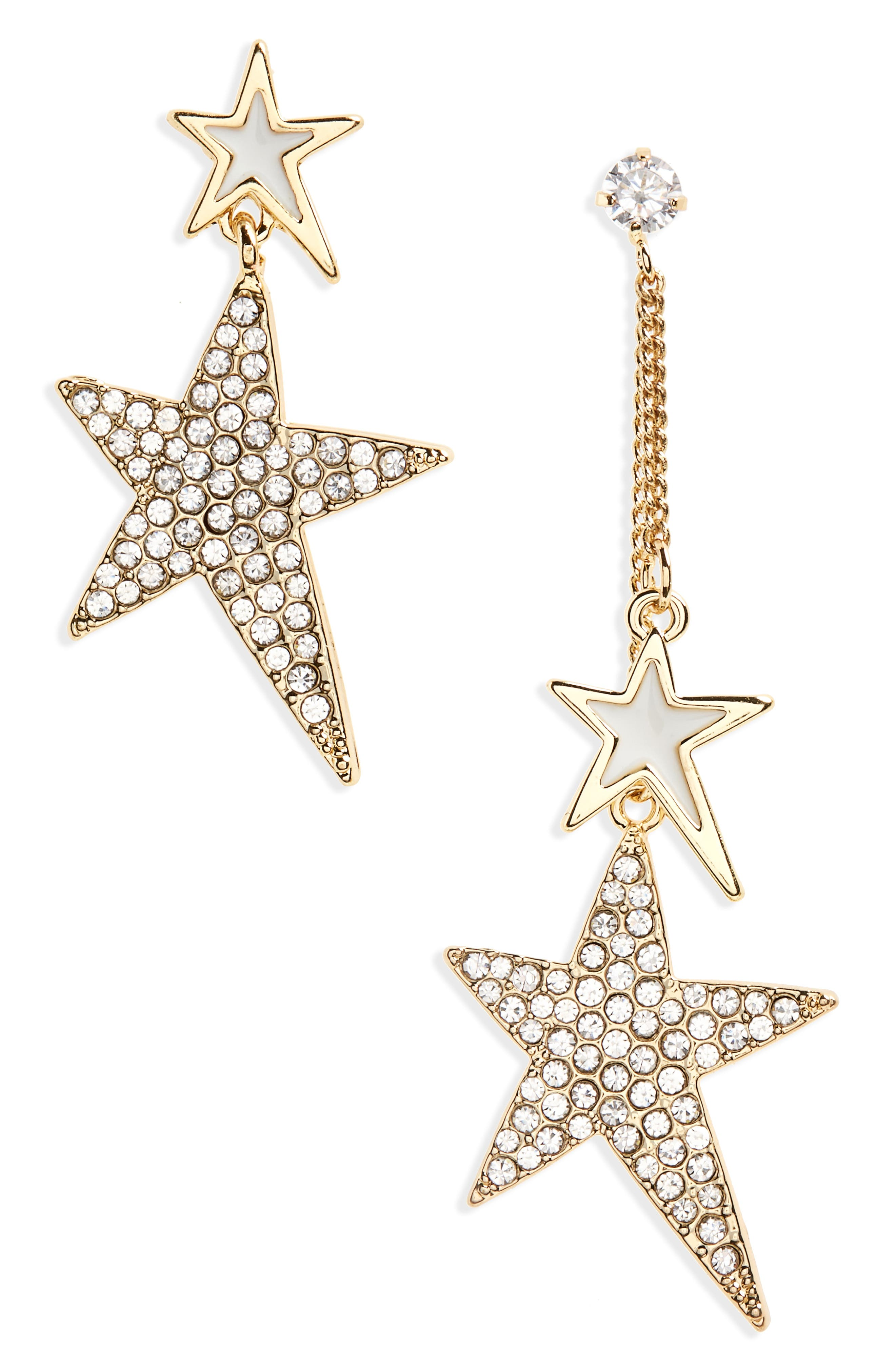 Crystal Star Statement Earrings,                             Main thumbnail 1, color,                             710