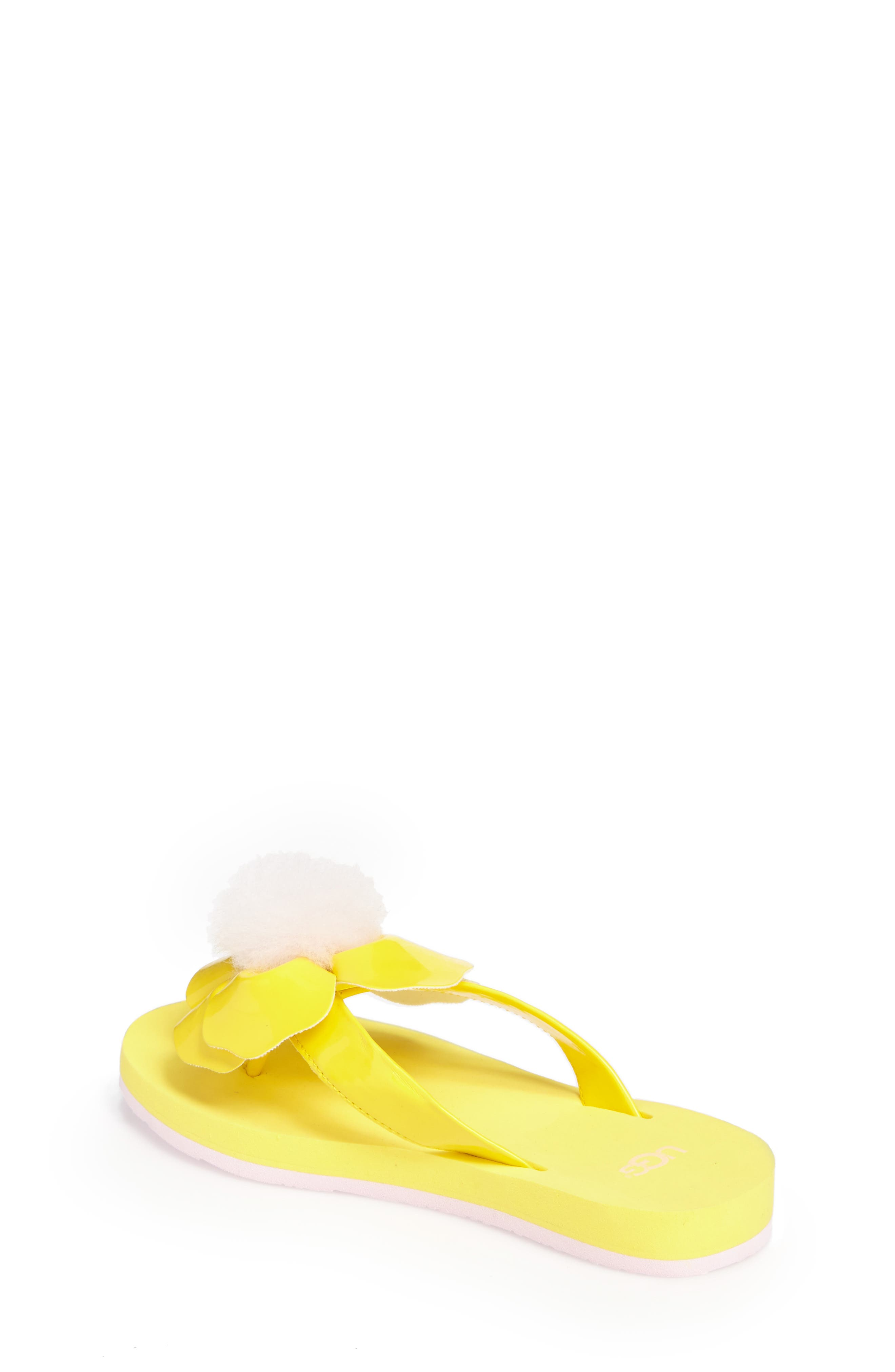Poppy Genuine Shearling Flip Flop,                             Alternate thumbnail 6, color,