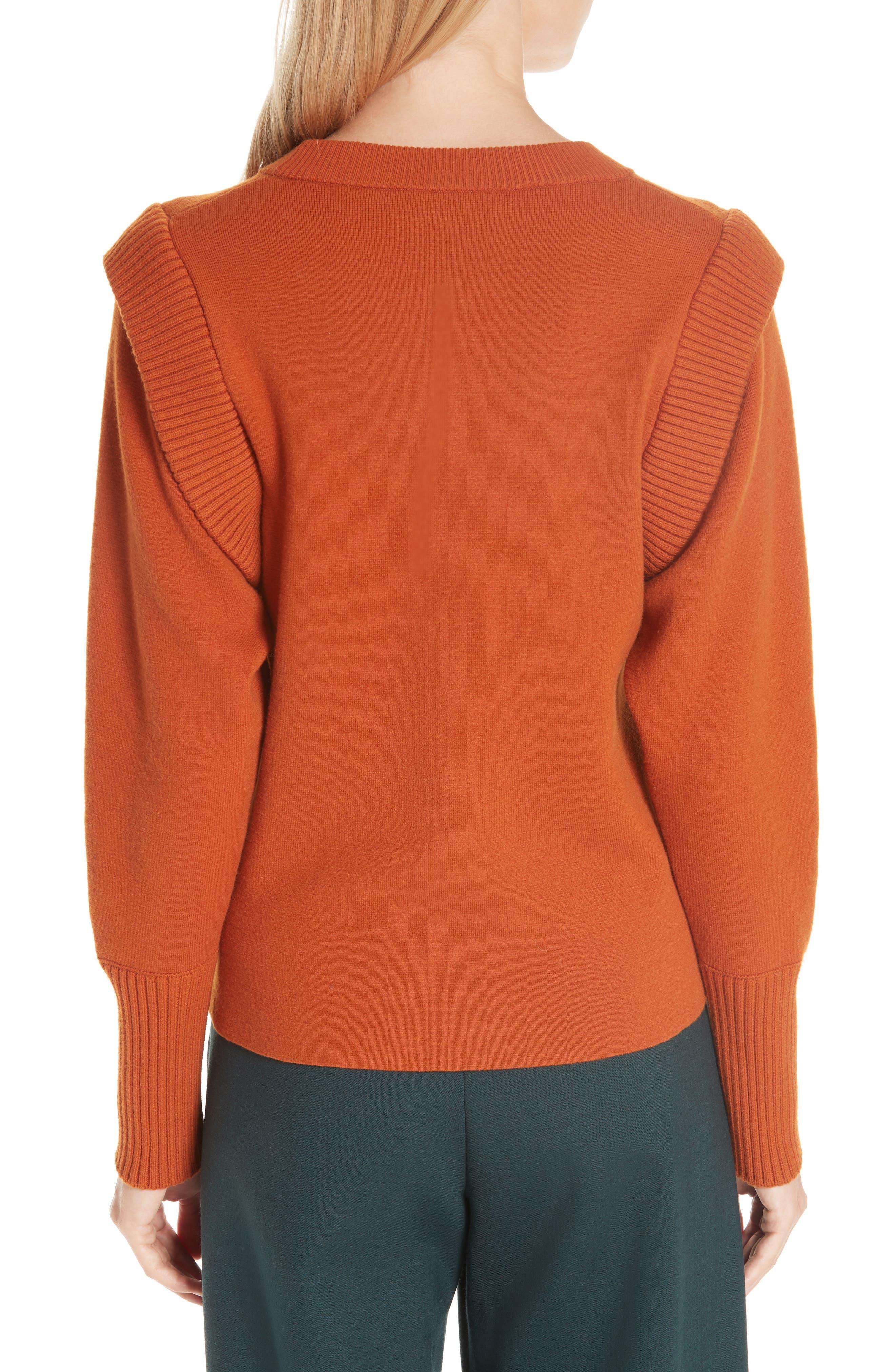 SEA,                             Rib Trim Milano Knit Sweater,                             Alternate thumbnail 2, color,                             800