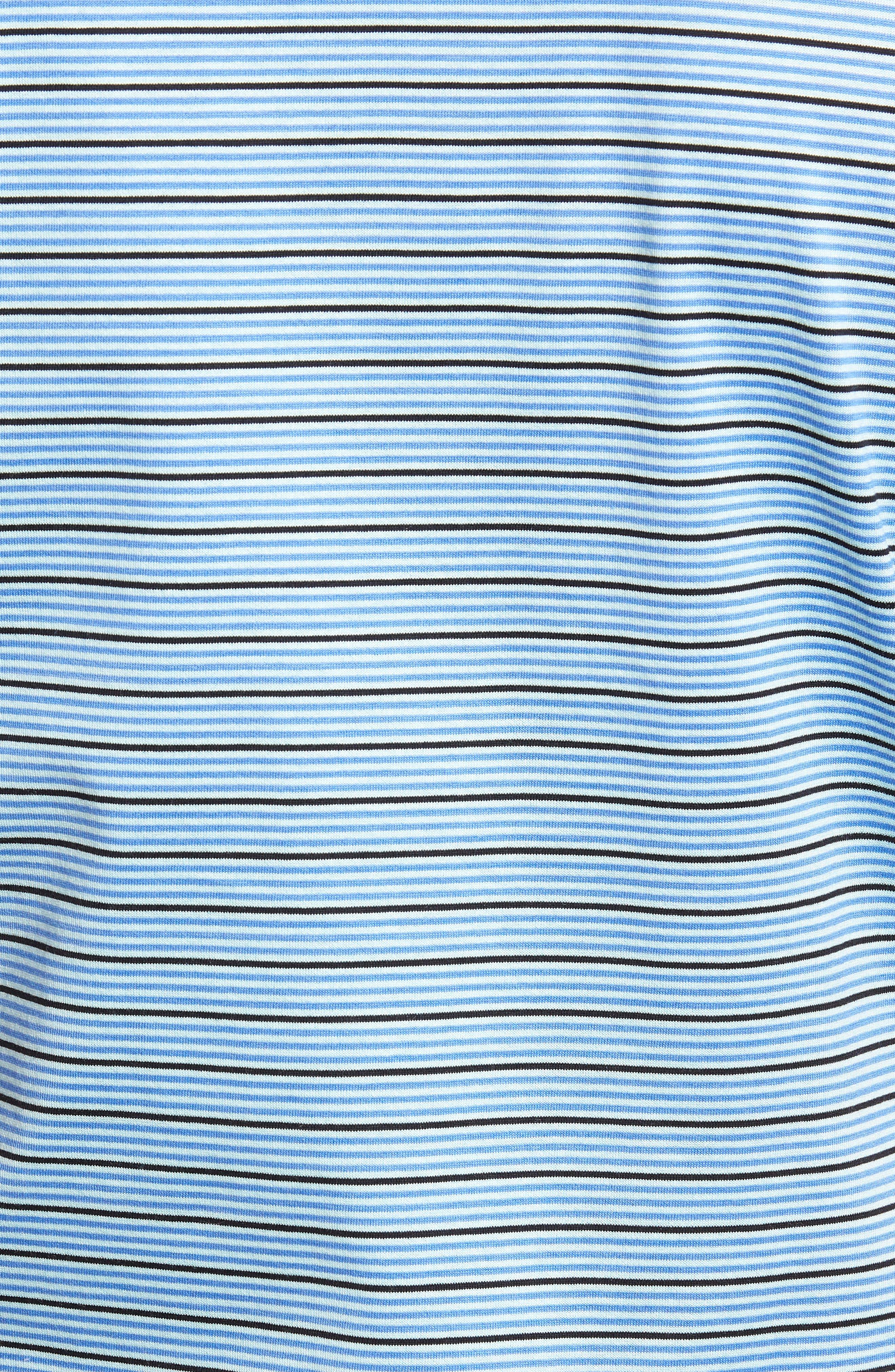 Grandview Sean Stripe Nanoluxe Polo,                             Alternate thumbnail 5, color,                             418