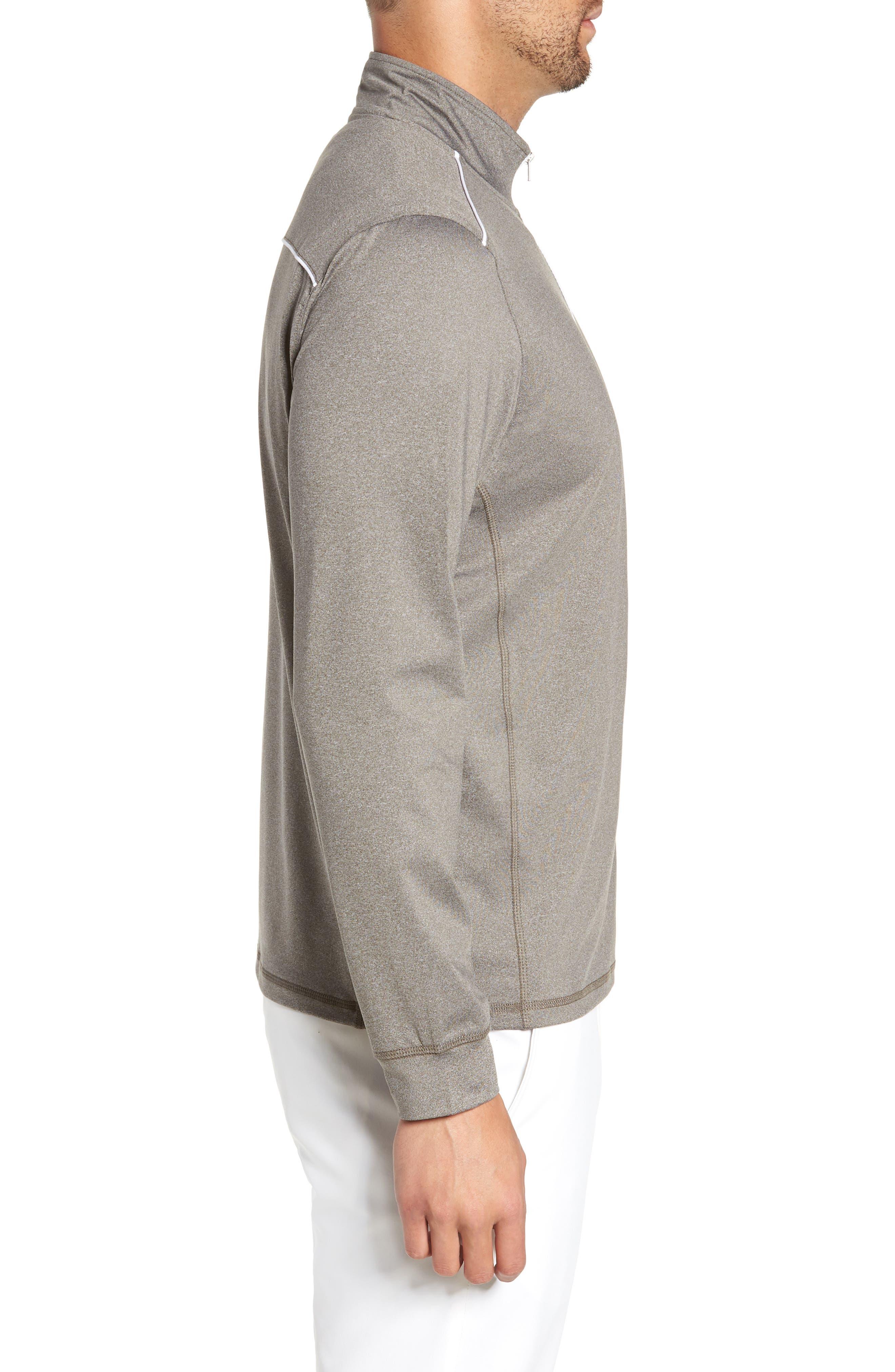 Lammie Regular Fit Quarter Zip Prep-Formance Pullover,                             Alternate thumbnail 3, color,                             METEOR