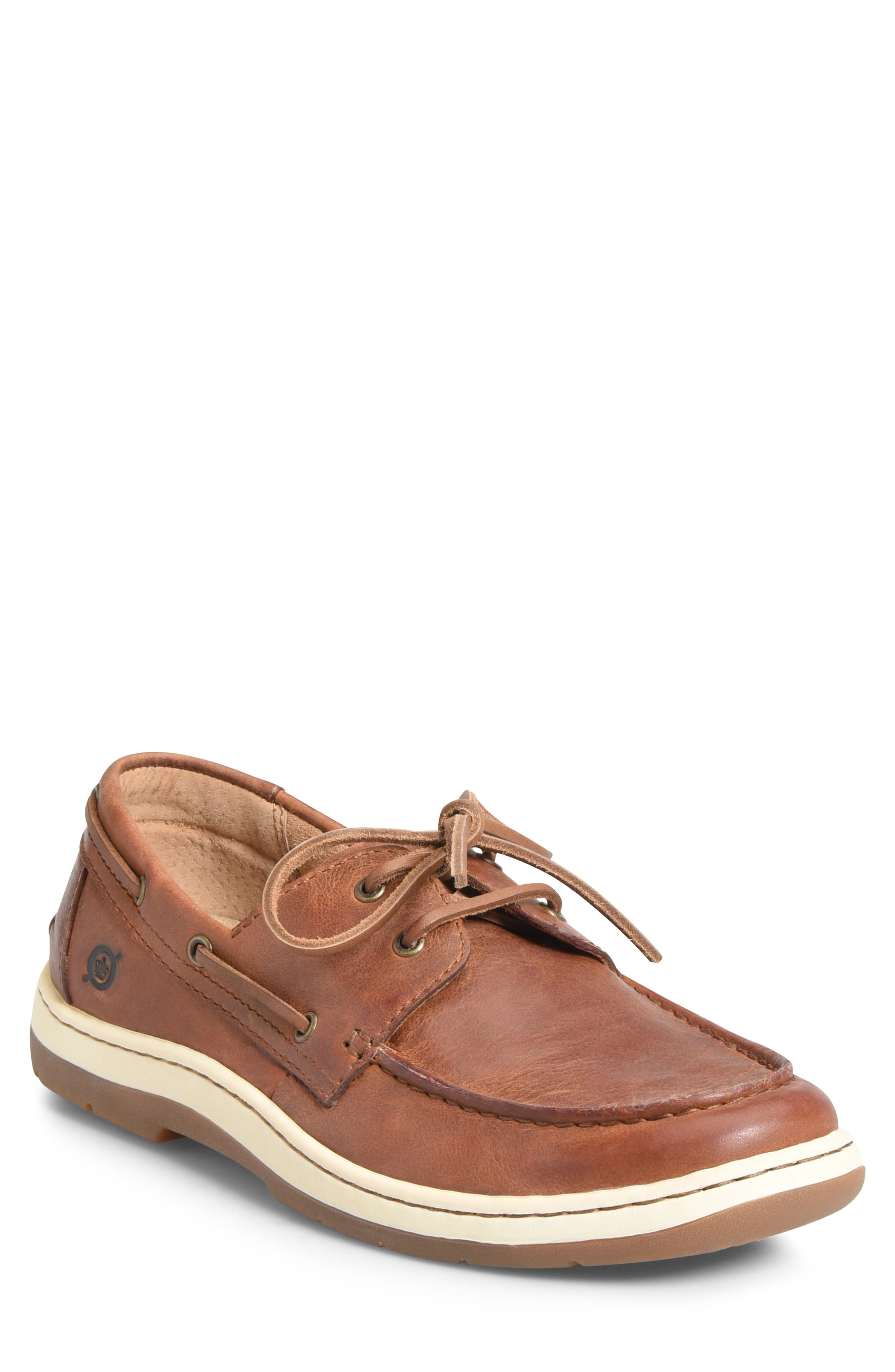 BØRN Ocean Boat Shoe, Main, color, TAN LEATHER
