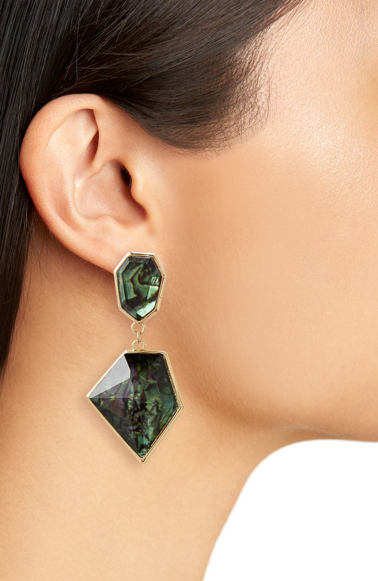 Geo Drop Earrings,                             Alternate thumbnail 2, color,                             710