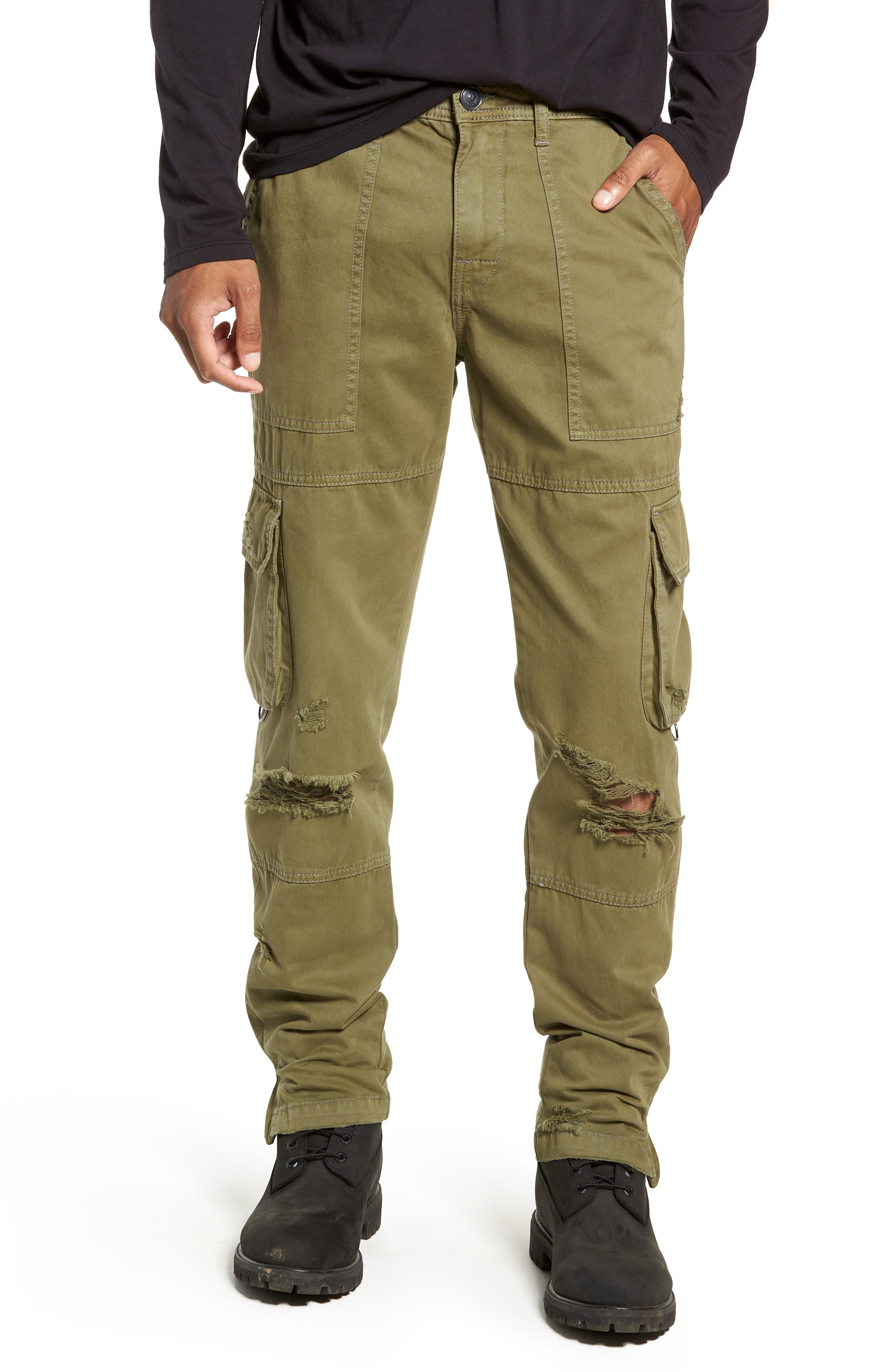 Military Cargo Pants,                         Main,                         color, MIST GREEN