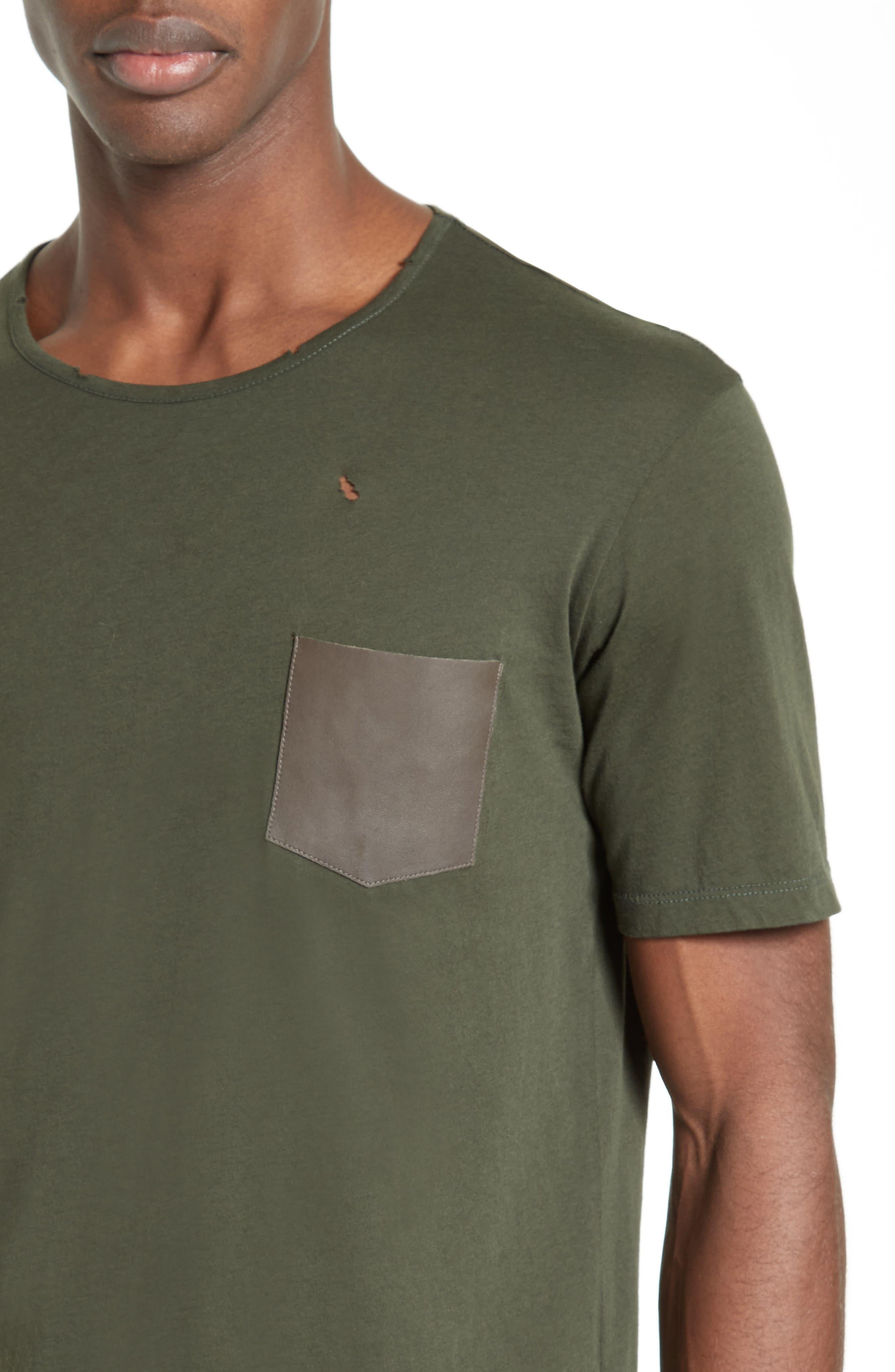 Leather Pocket T-Shirt,                             Alternate thumbnail 4, color,                             300