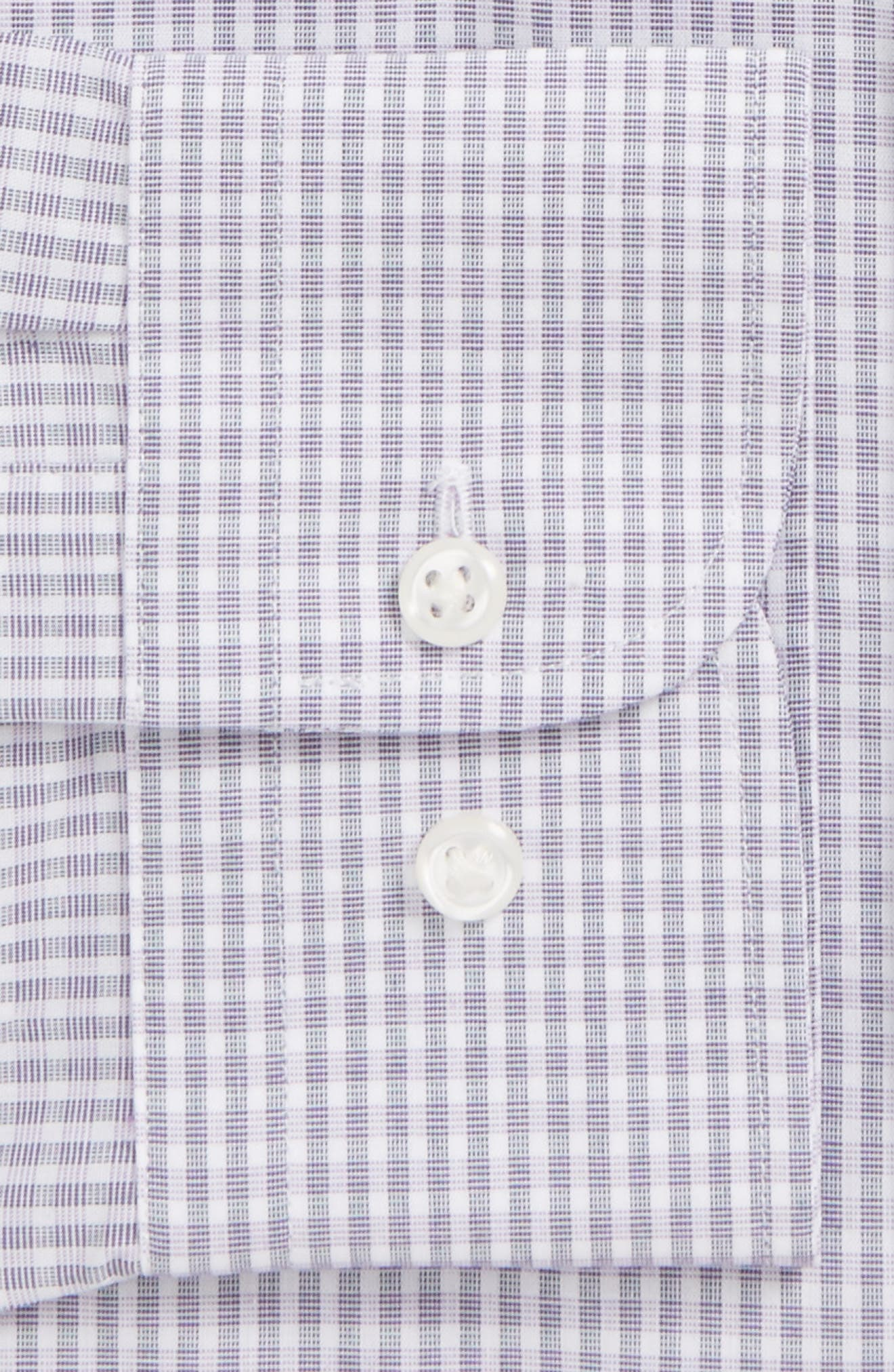Extra Trim Fit Non-Iron Check Dress Shirt,                             Alternate thumbnail 17, color,