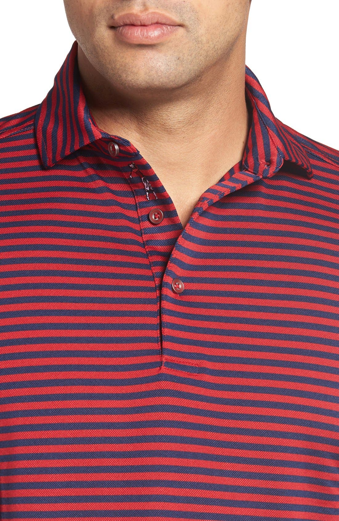 XH2O Feed Stripe Stretch Golf Polo,                             Alternate thumbnail 73, color,