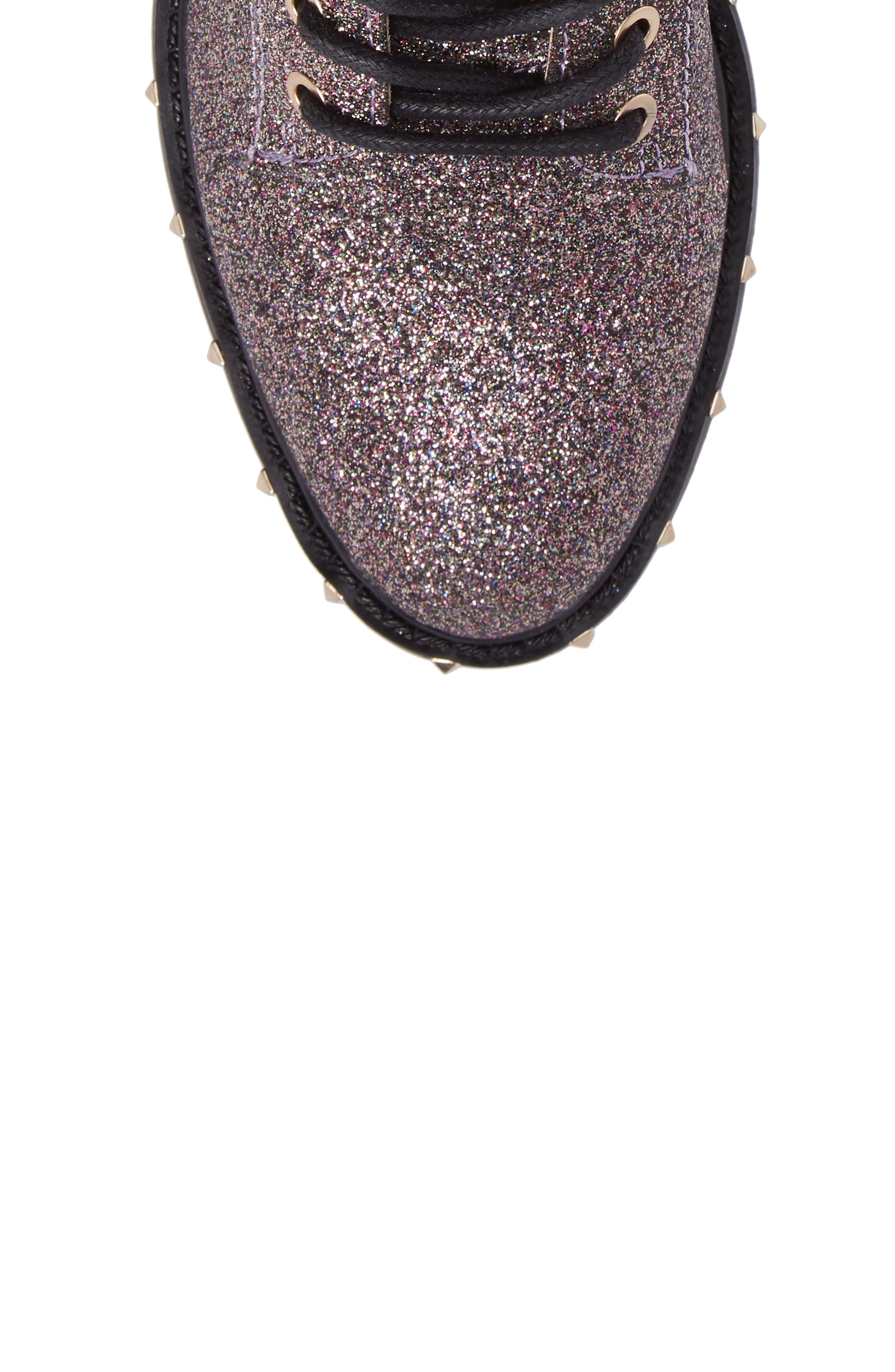 Talori Studded Glitter Bootie,                             Alternate thumbnail 5, color,                             650