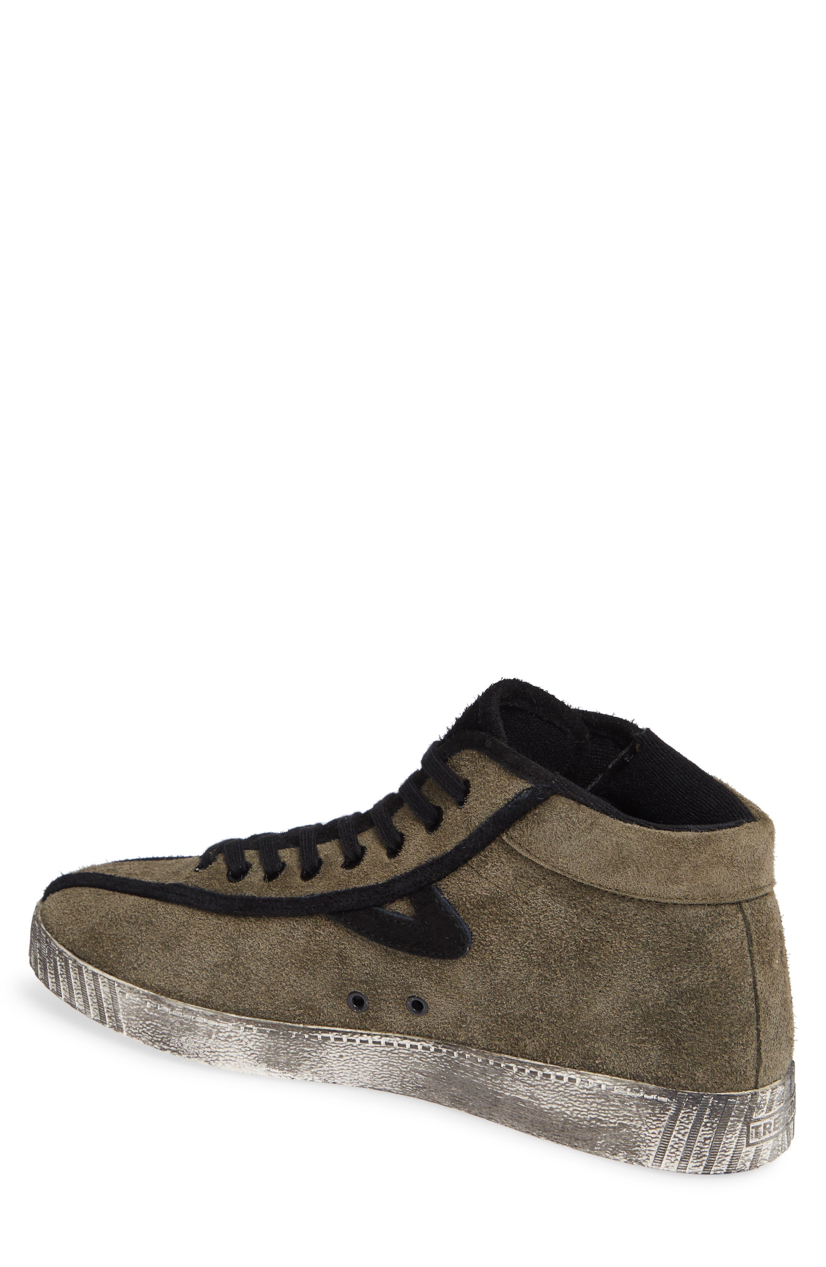 Nylite Hi 21 High Top Sneaker,                             Alternate thumbnail 2, color,                             OLIVE/ BLACK SUEDE