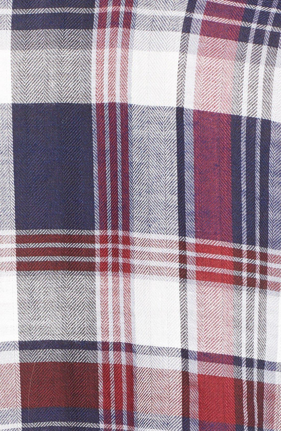 Long Sleeve Plaid Blouse,                             Alternate thumbnail 8, color,