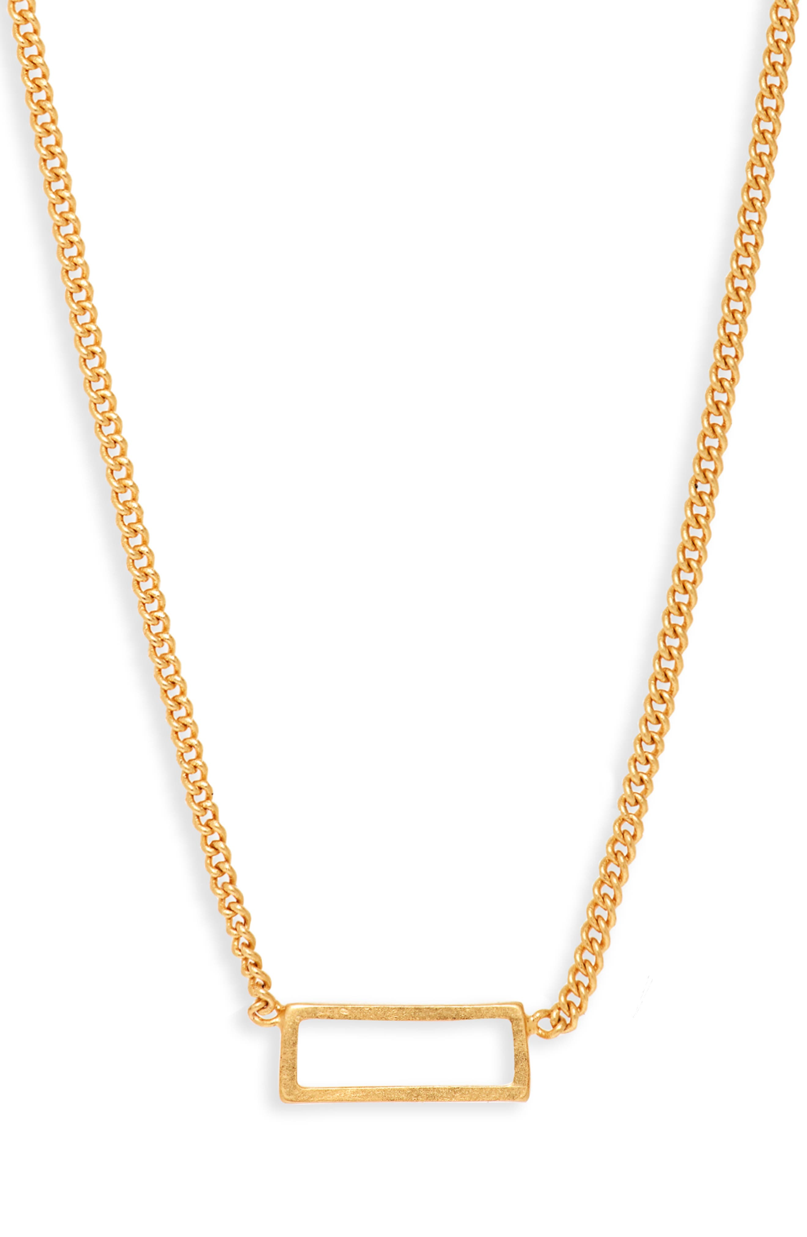 Gilded Frame Necklace,                             Main thumbnail 1, color,                             VINTAGE GOLD